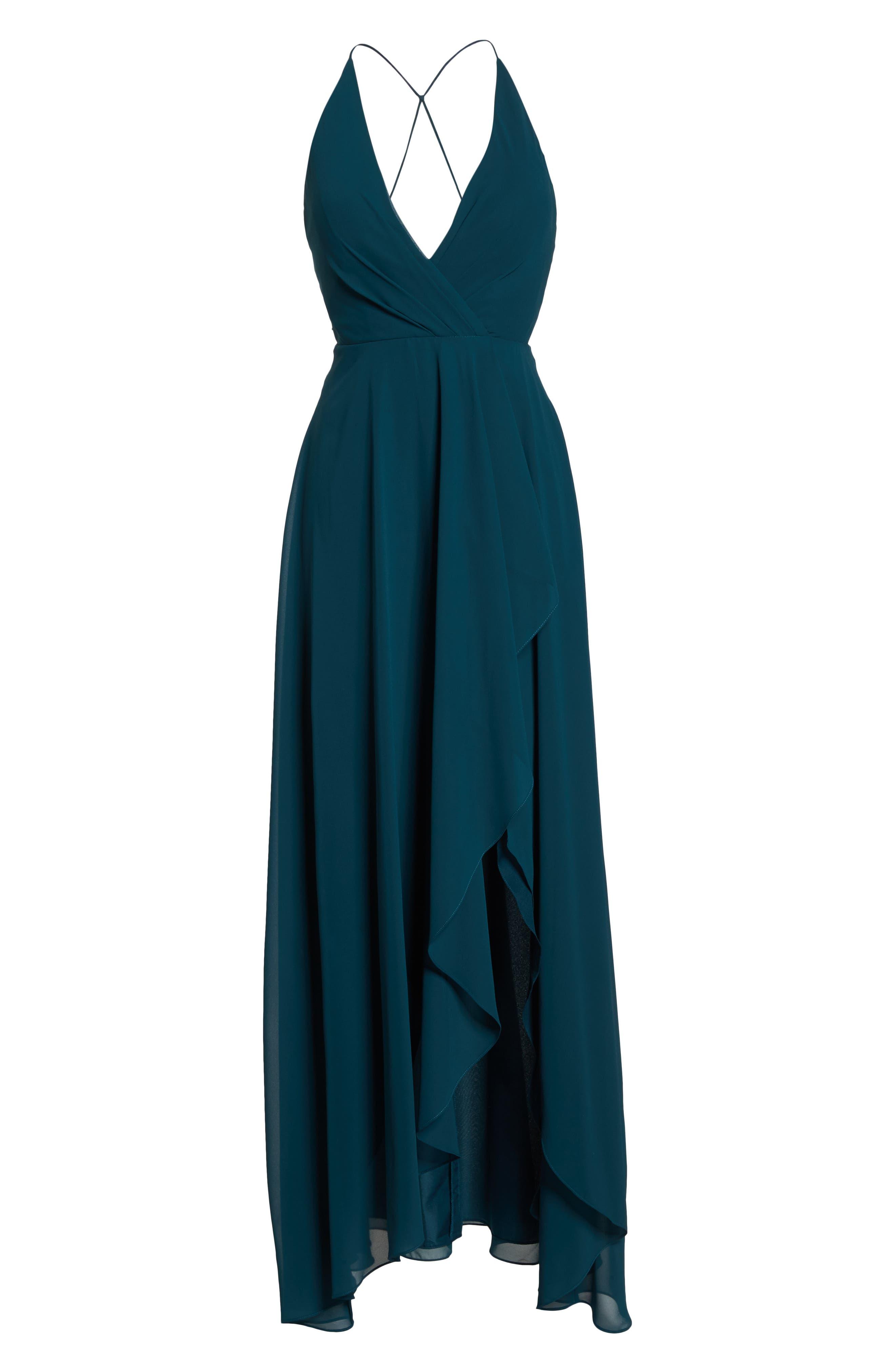 Alternate Image 6  - Jenny Yoo Farrah Ruffle Skirt Chiffon Gown