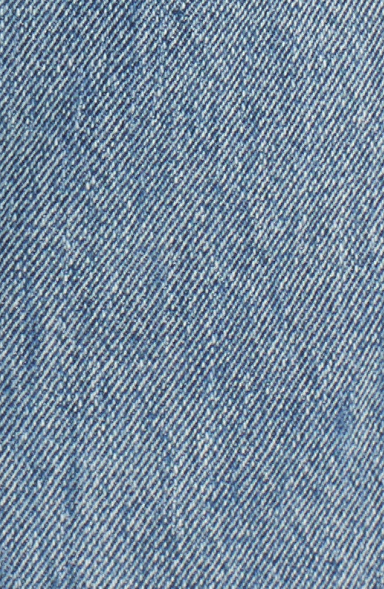 High Waist Skinny Jeans,                             Alternate thumbnail 6, color,                             Medium