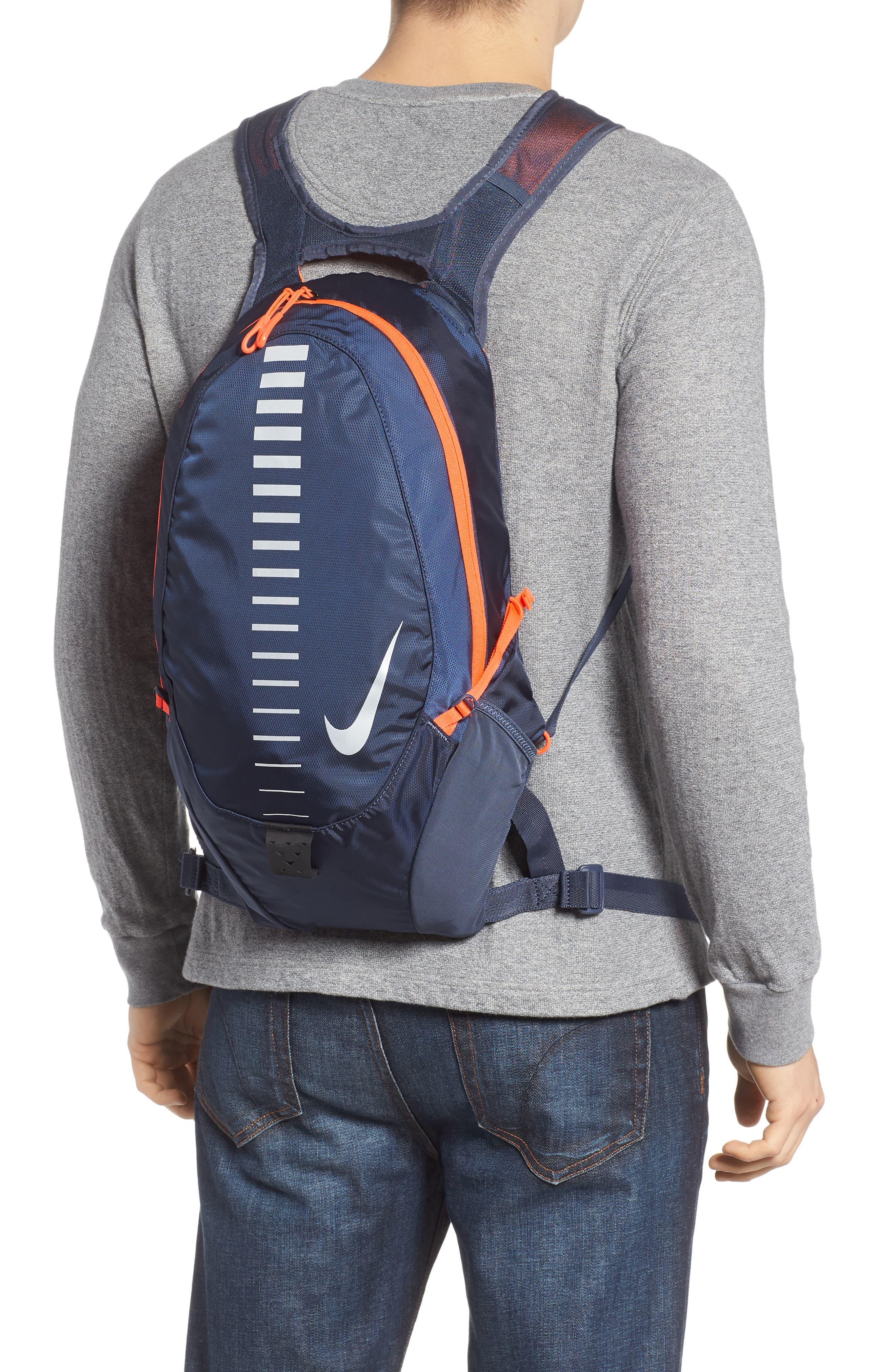 Run Commuter Backpack,                             Alternate thumbnail 2, color,                             Thunder Blue/ Total Crimson