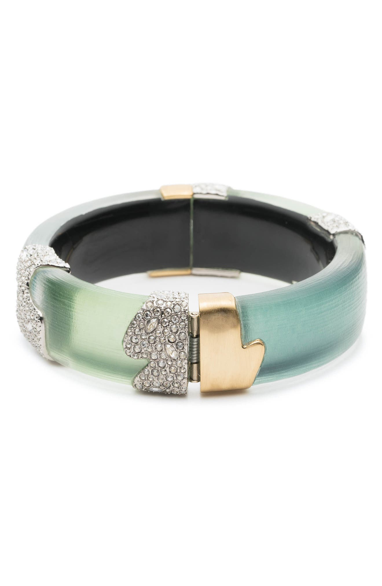 Crystal Encrusted Colorblocked Bracelet,                             Alternate thumbnail 2, color,                             Roxbury Mix