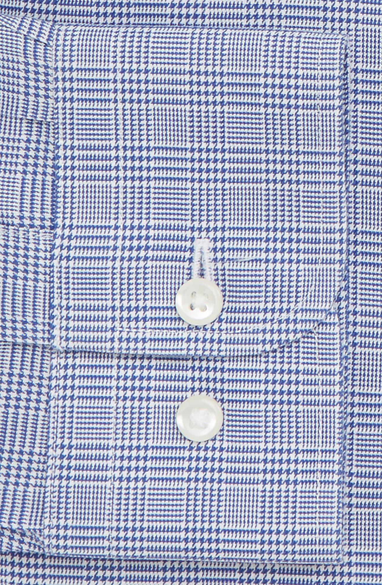 Smartcare<sup>™</sup> Trim Fit Herringbone Dress Shirt,                             Alternate thumbnail 5, color,                             Blue Marine