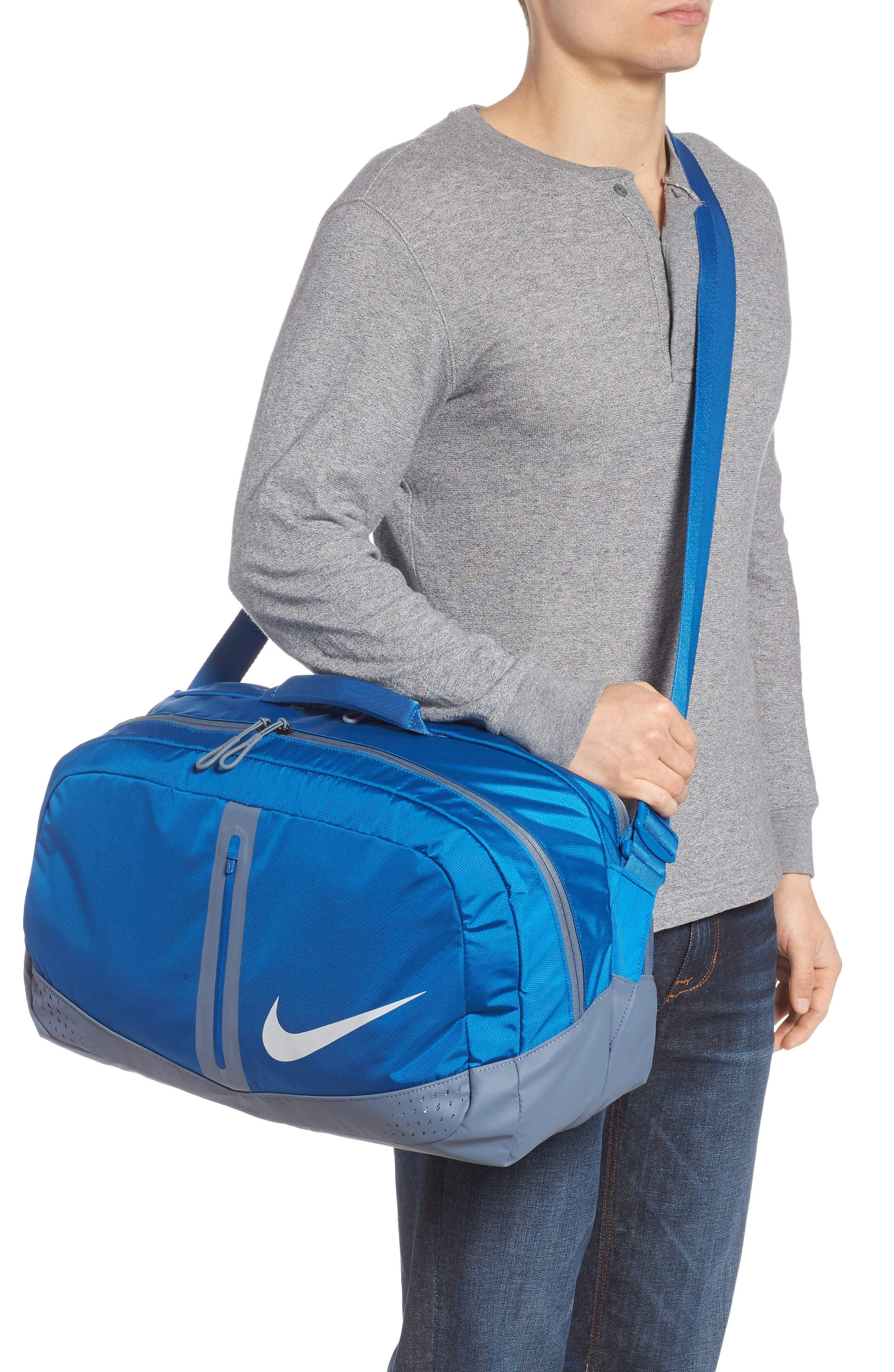 Run Duffel Bag,                             Alternate thumbnail 2, color,                             Blue Jay/ Armory Blue/ Silver