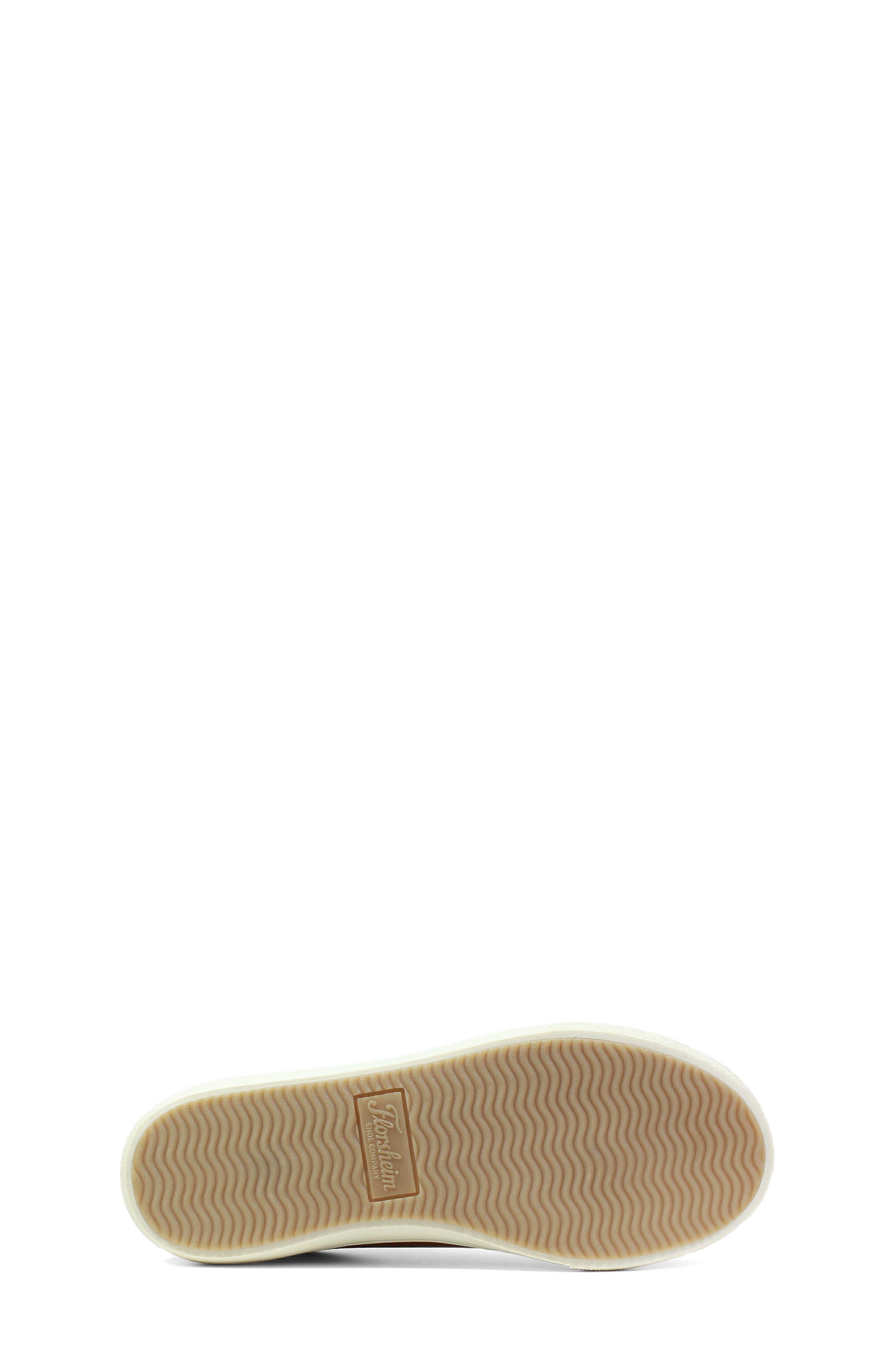 Curb Elastic Lace Sneaker,                             Alternate thumbnail 5, color,                             Cognac