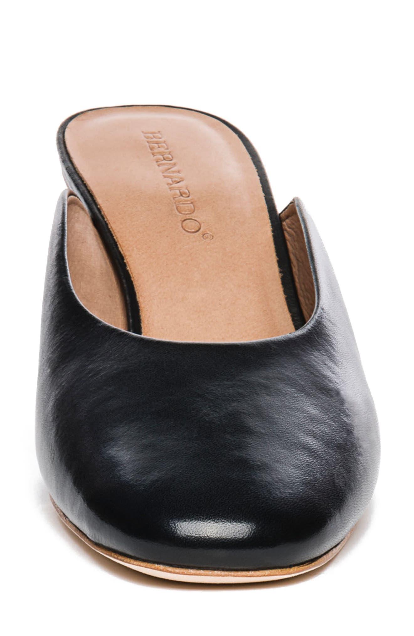 Bernardo Irena Mule,                             Alternate thumbnail 4, color,                             Black Leather