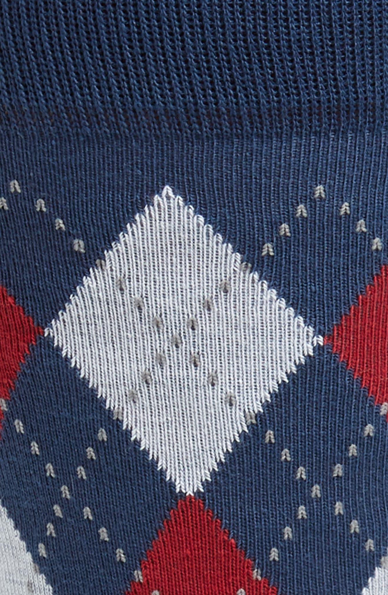 Alternate Image 2  - Nordstrom Men's Shop Argyle Band Socks
