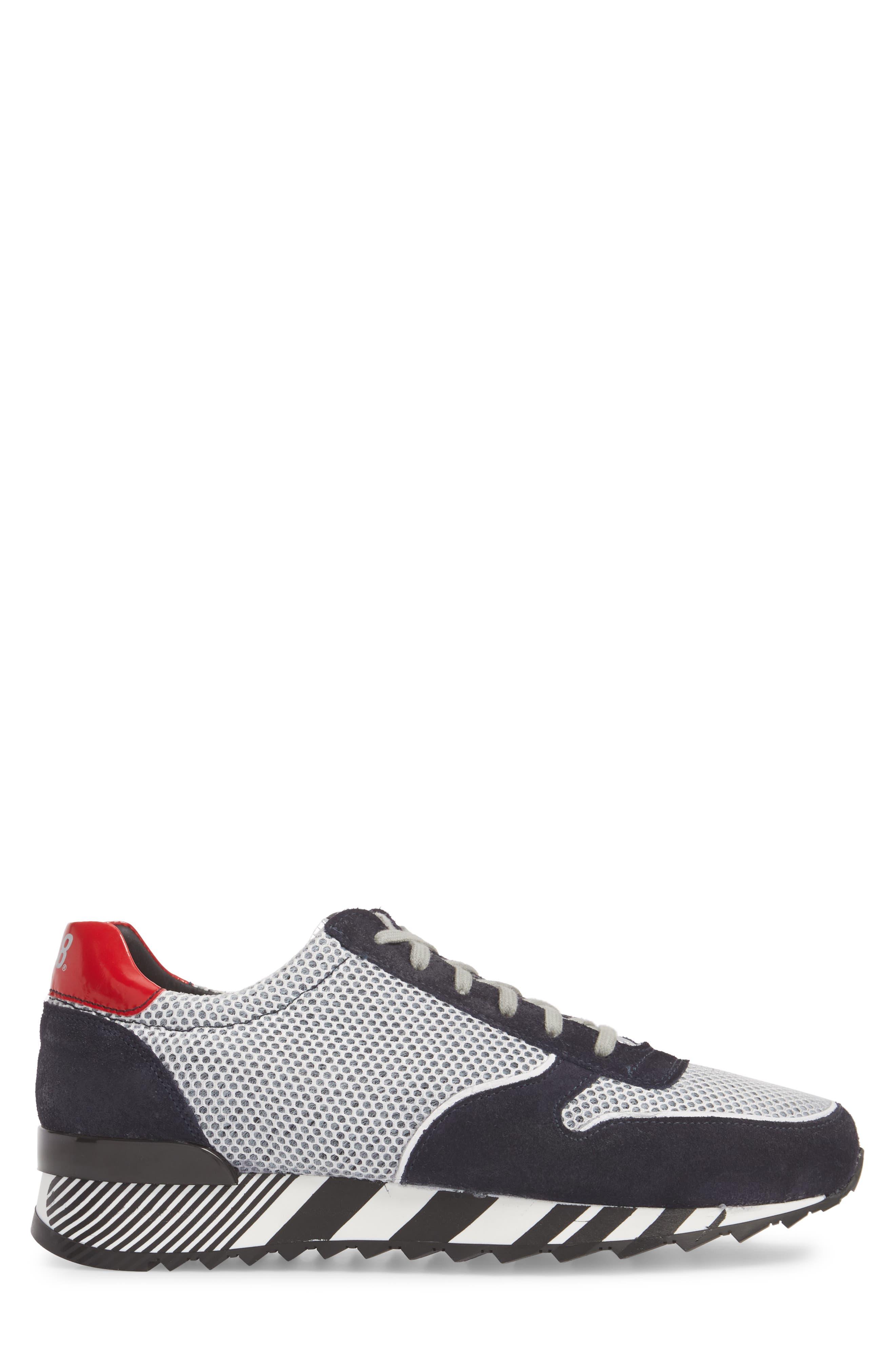 Boston Low Top Sneaker,                             Alternate thumbnail 3, color,                             Sand Grey