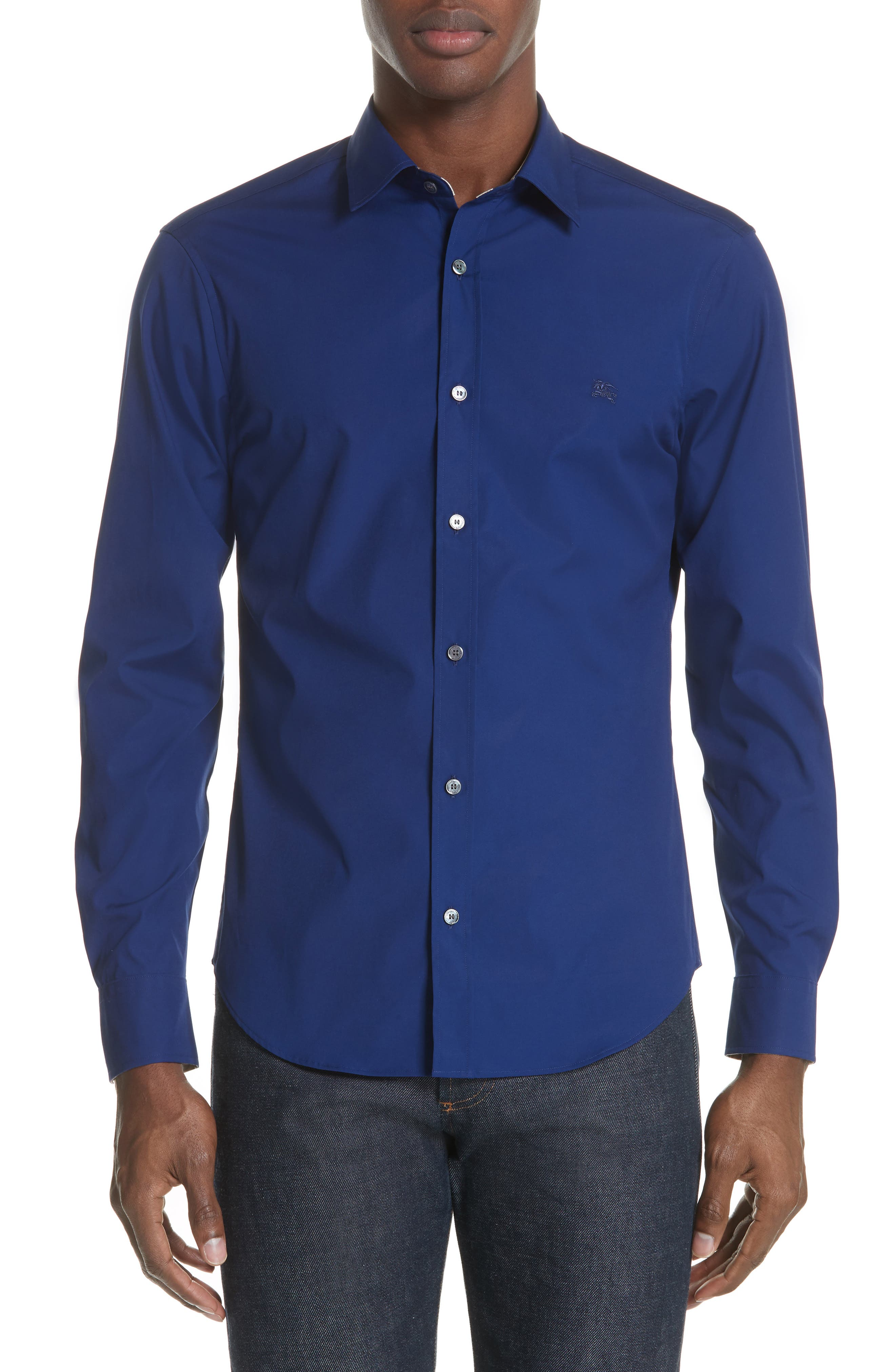 Cambridge Aboyd Sport Shirt,                             Main thumbnail 1, color,                             Bright Navy
