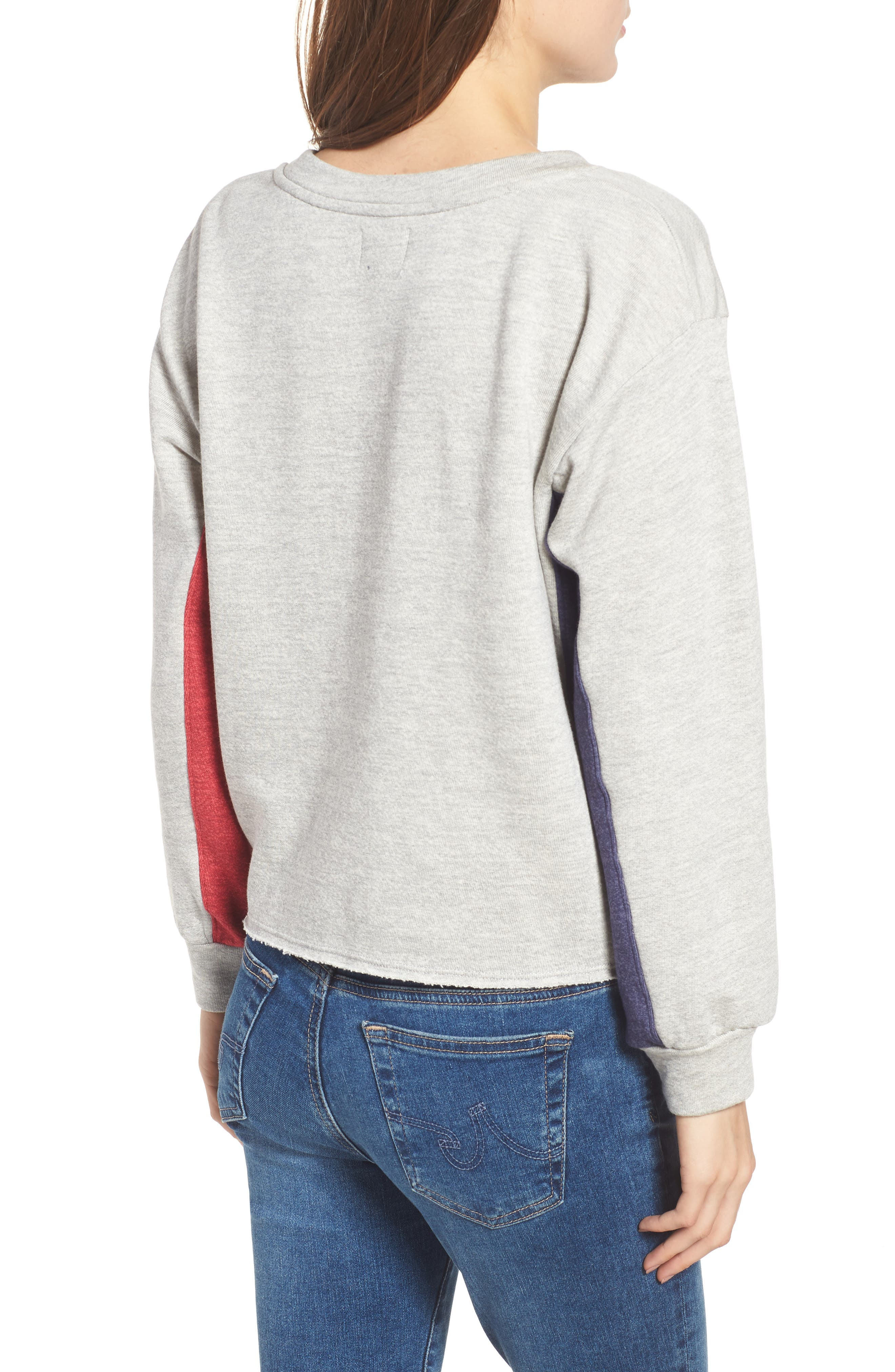 Colorblock Terry Sweatshirt,                             Alternate thumbnail 2, color,                             Heather Grey