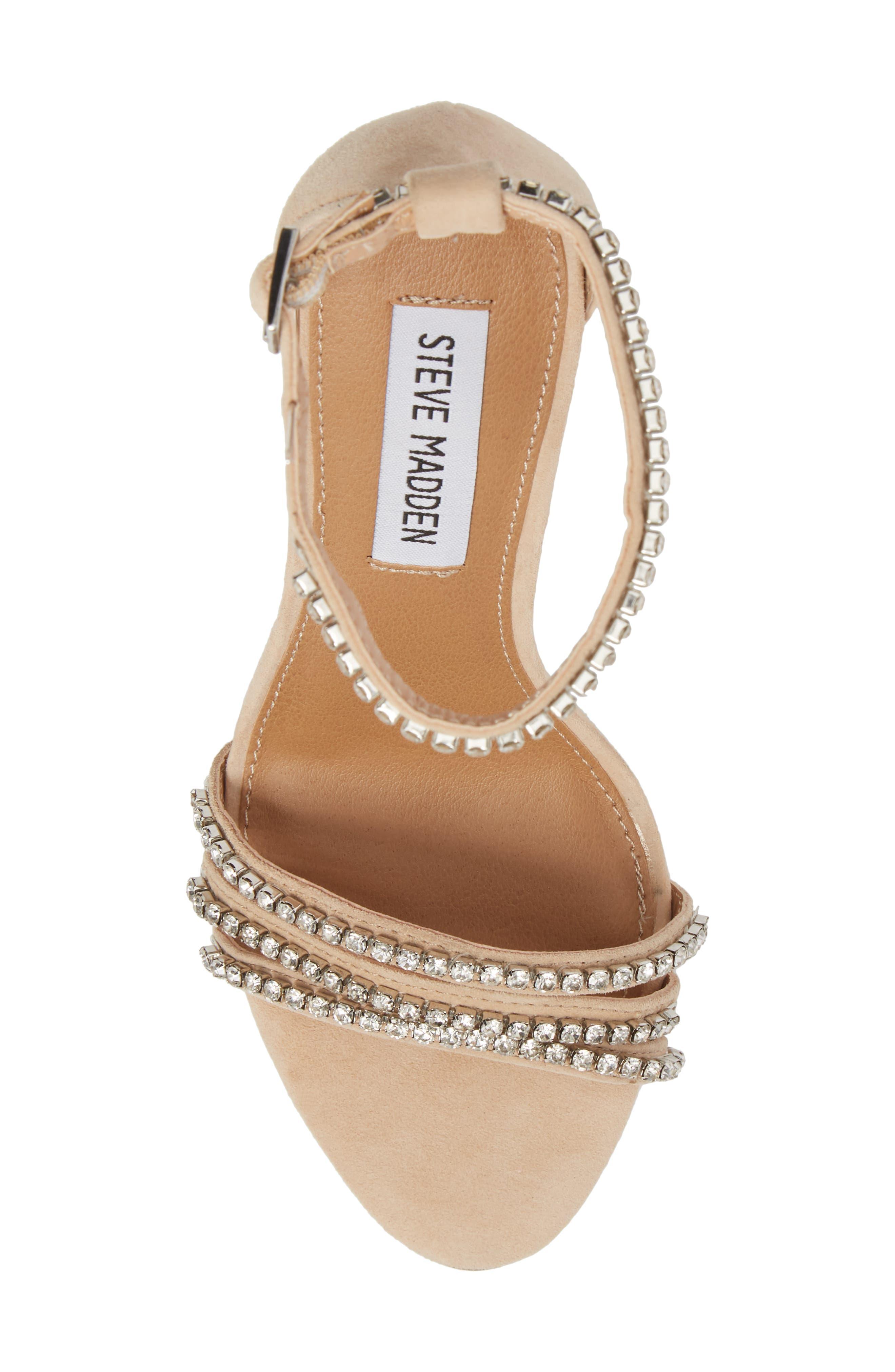 Sterling Embellished Sandal,                             Alternate thumbnail 5, color,                             Blush Multi