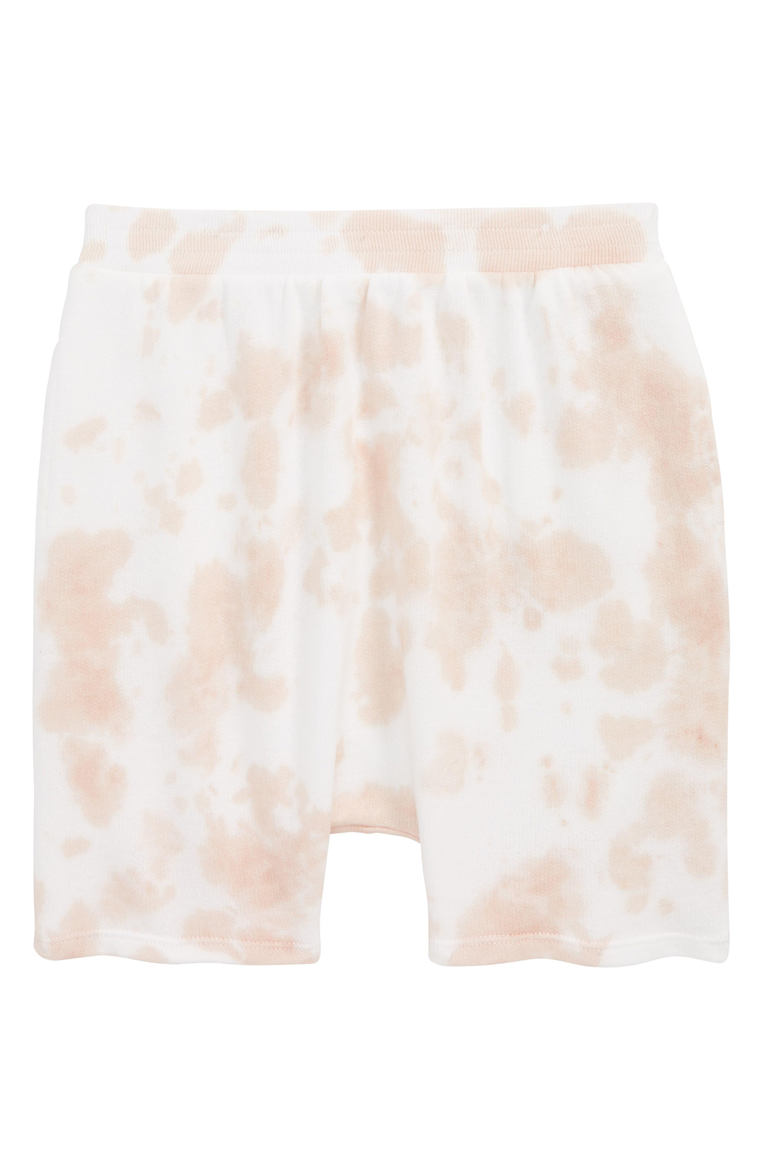 Main Image - Stem Tie Dye Shorts (Toddler Girls, Little Girls & Big Girls)