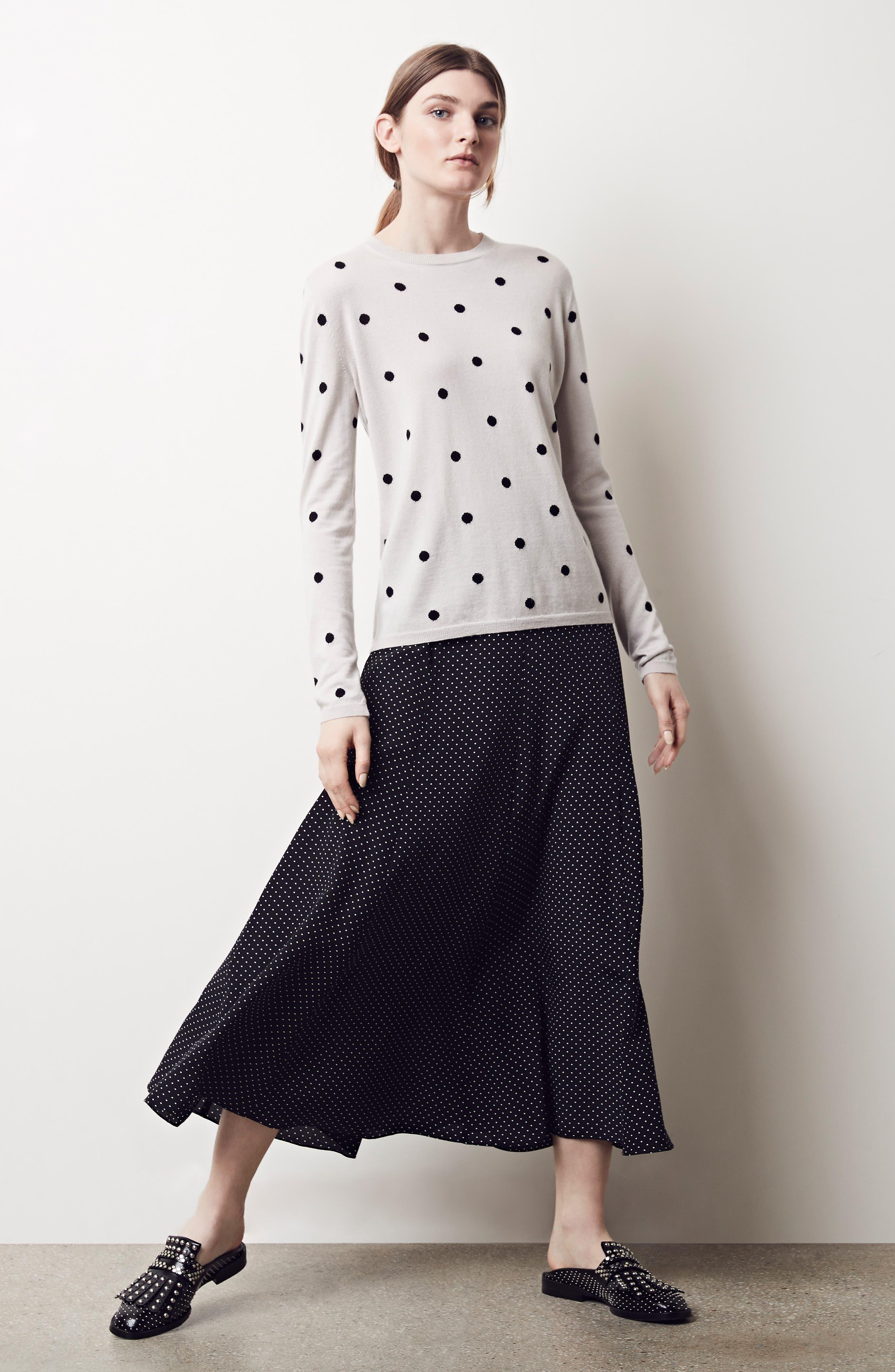 Pitone Polka Dot Print Silk Skirt by Max Mara