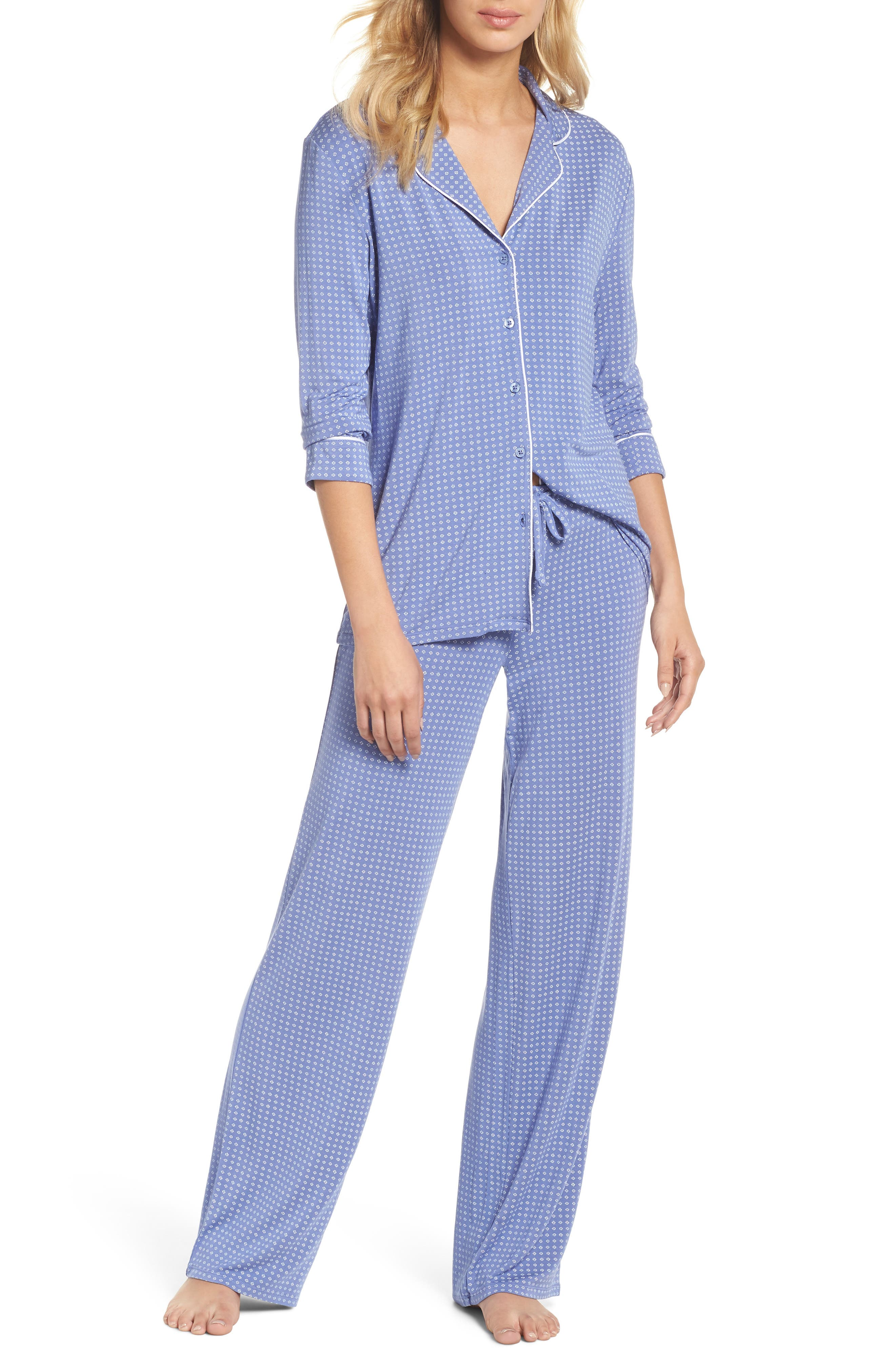 Moonlight Pajamas,                             Main thumbnail 1, color,                             Blue Denim Geo