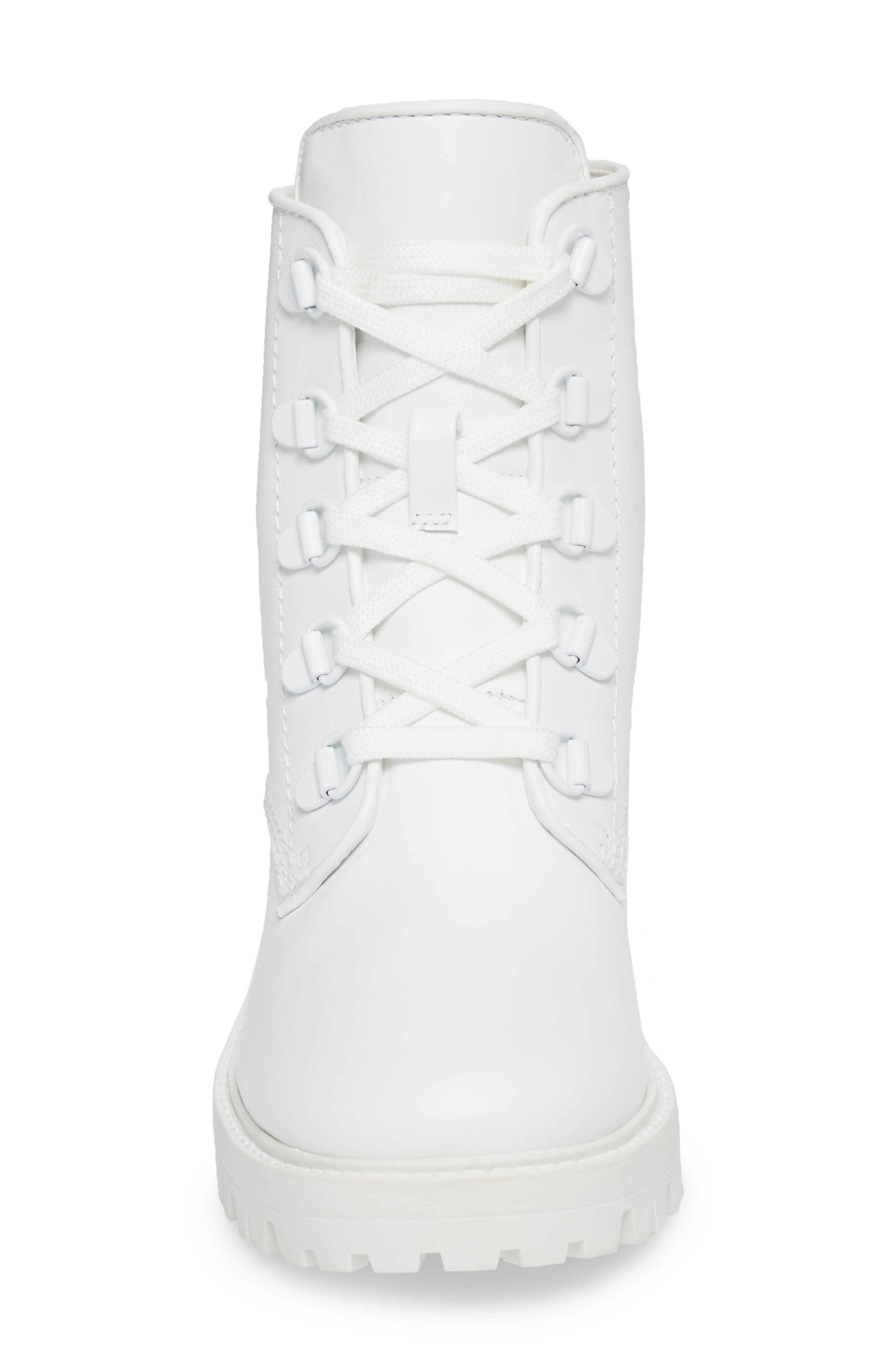 Military Boot,                             Alternate thumbnail 4, color,                             White/ White/ White