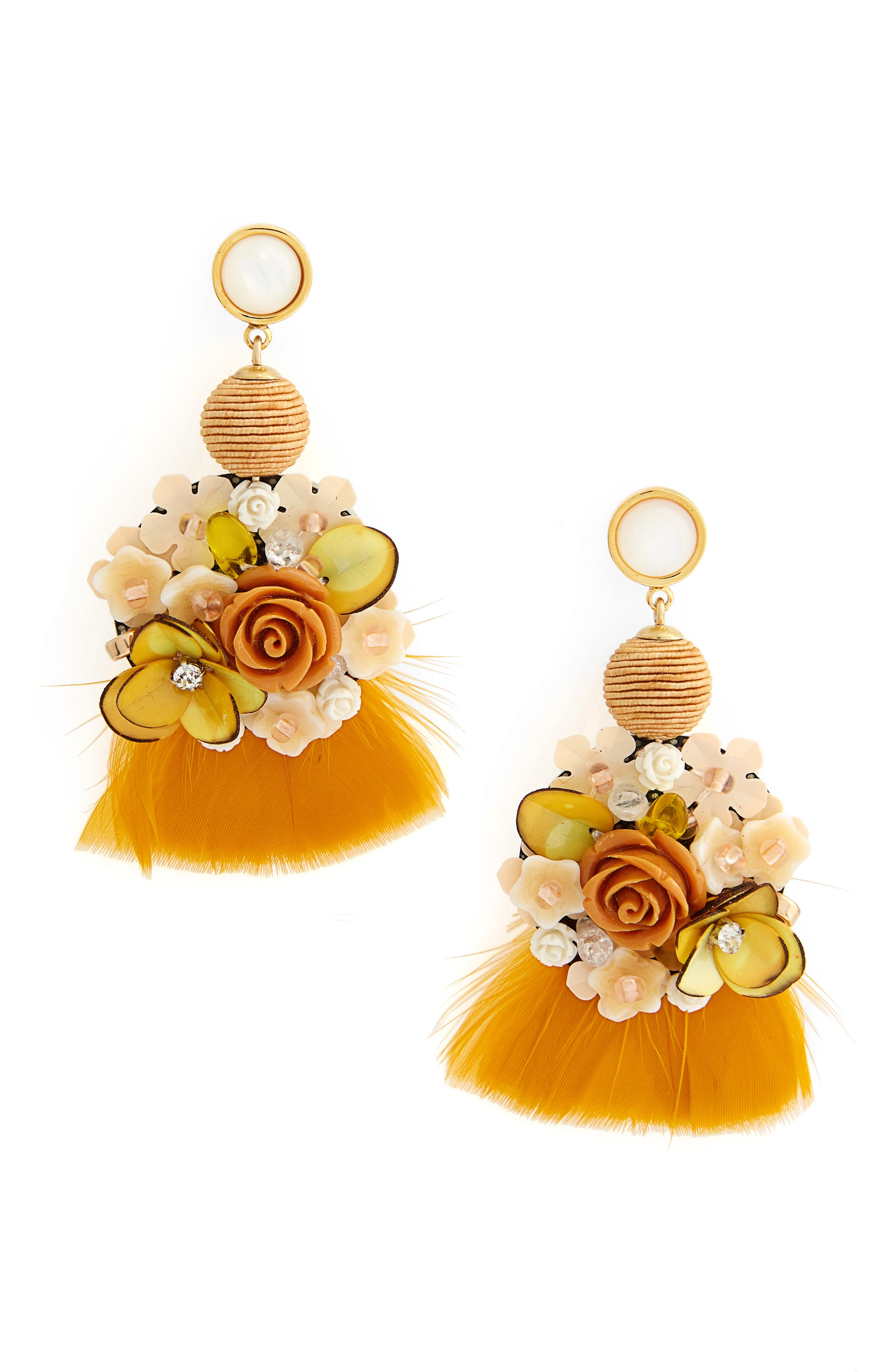 French Marigold Drop Earrings,                         Main,                         color, Multi