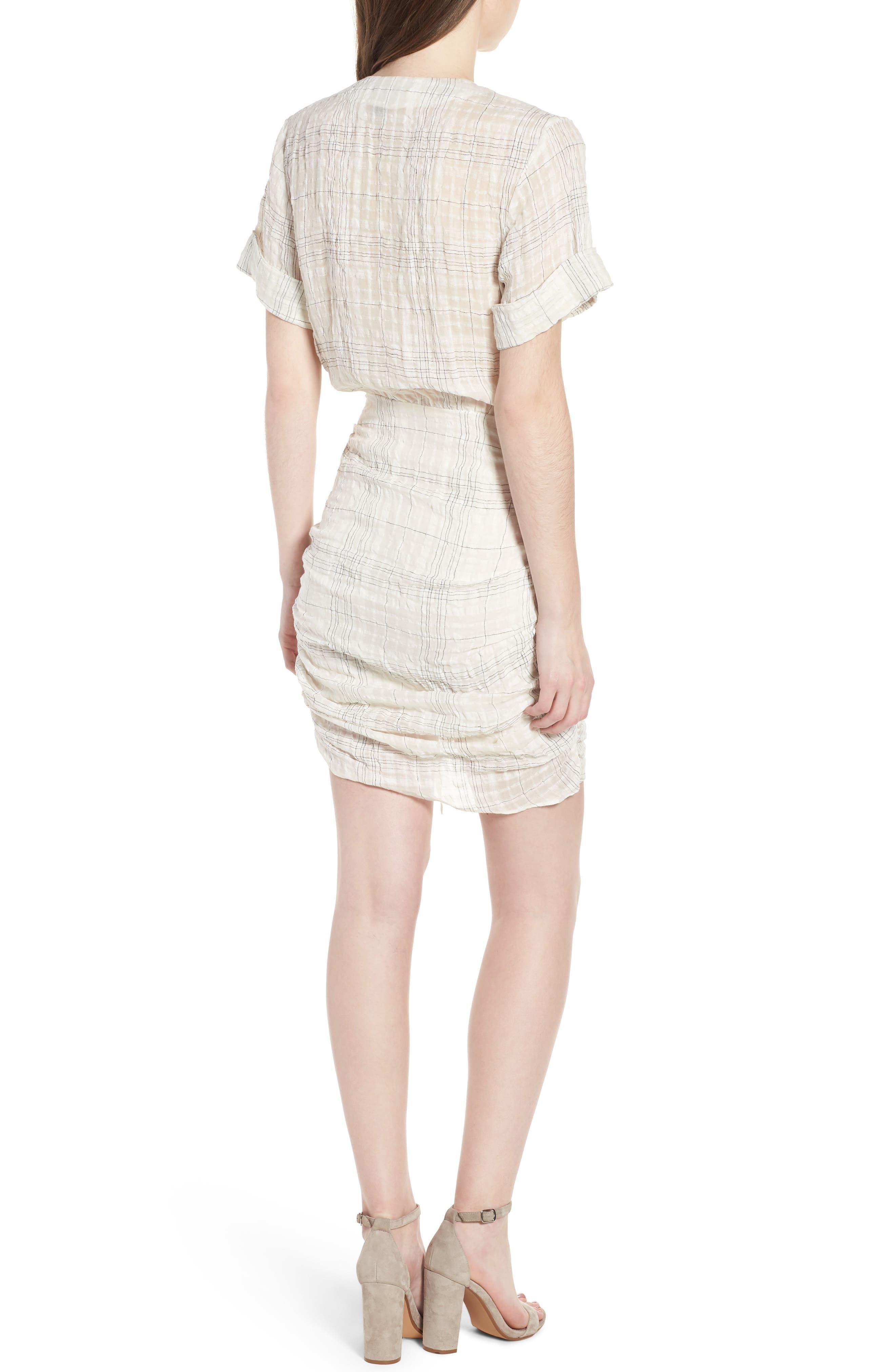 Freja Ruched Dress,                             Alternate thumbnail 2, color,                             Picnic Check