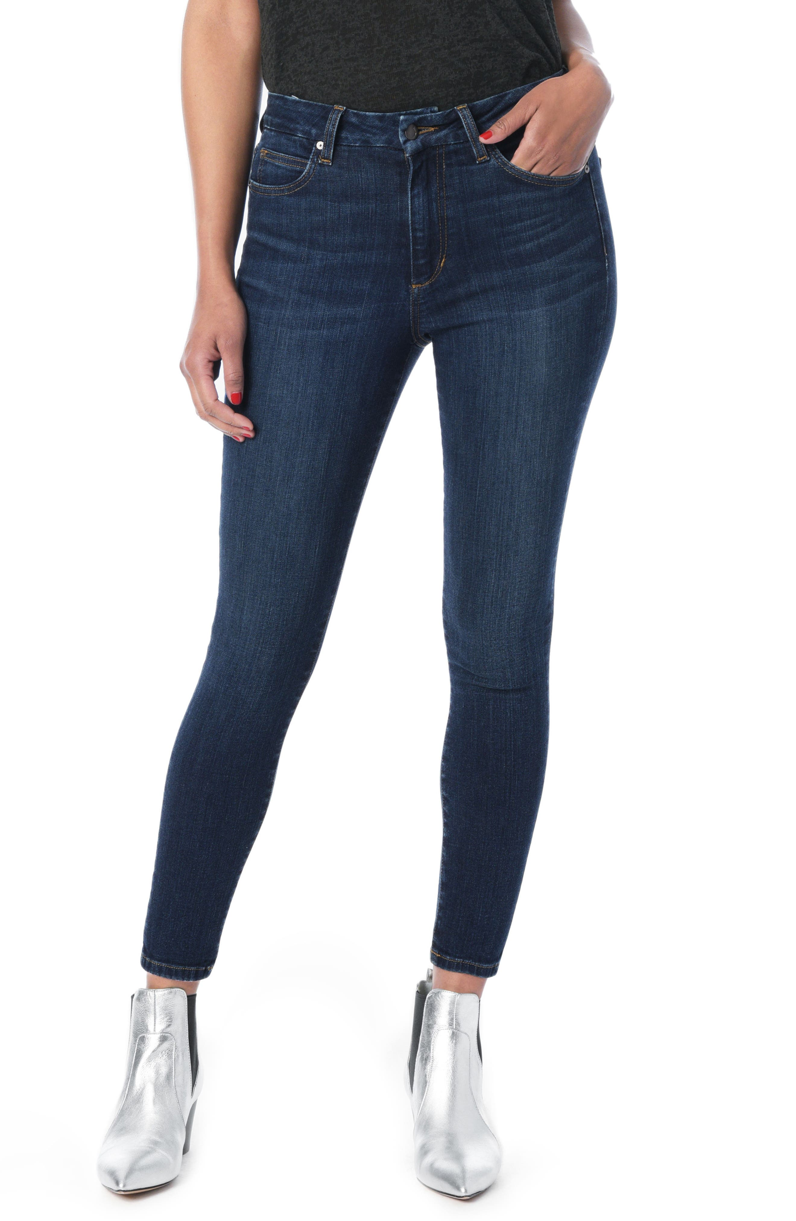 Hi Rise Honey Curvy Skinny Ankle Jeans,                             Main thumbnail 1, color,                             Nurie