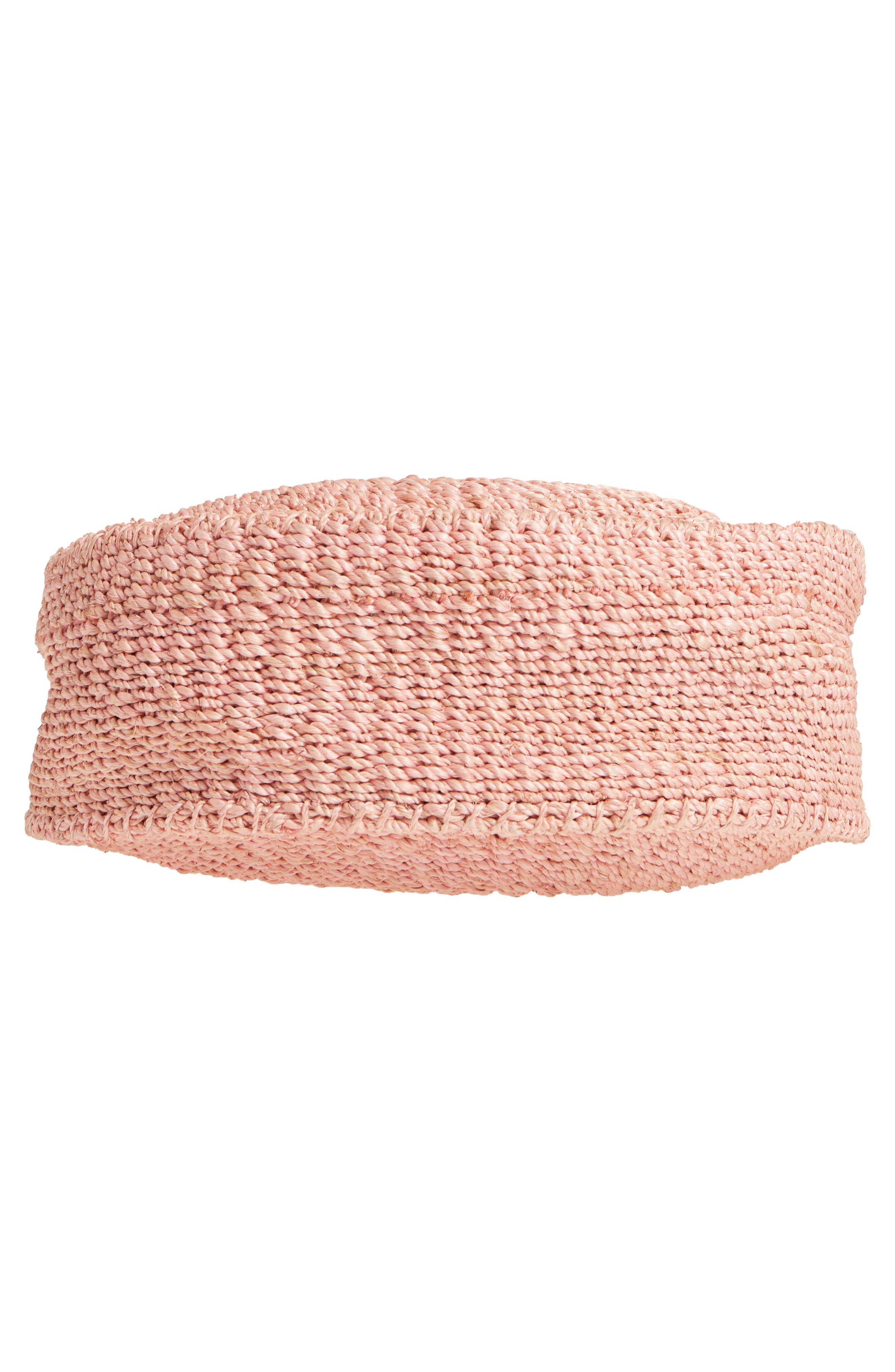 Alice Woven Sisal Straw Bag,                             Alternate thumbnail 6, color,                             Blush Woven