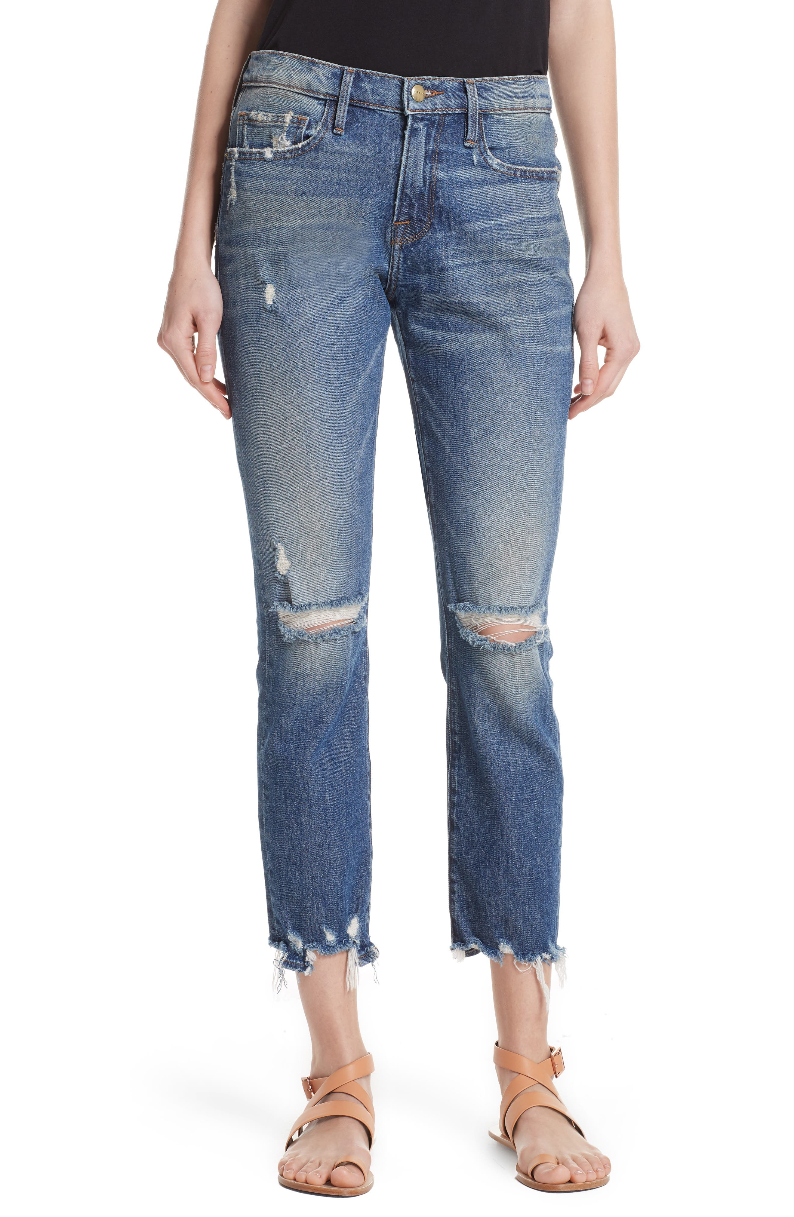 FRAME Le Boy Ripped Jeans (Tisbury)