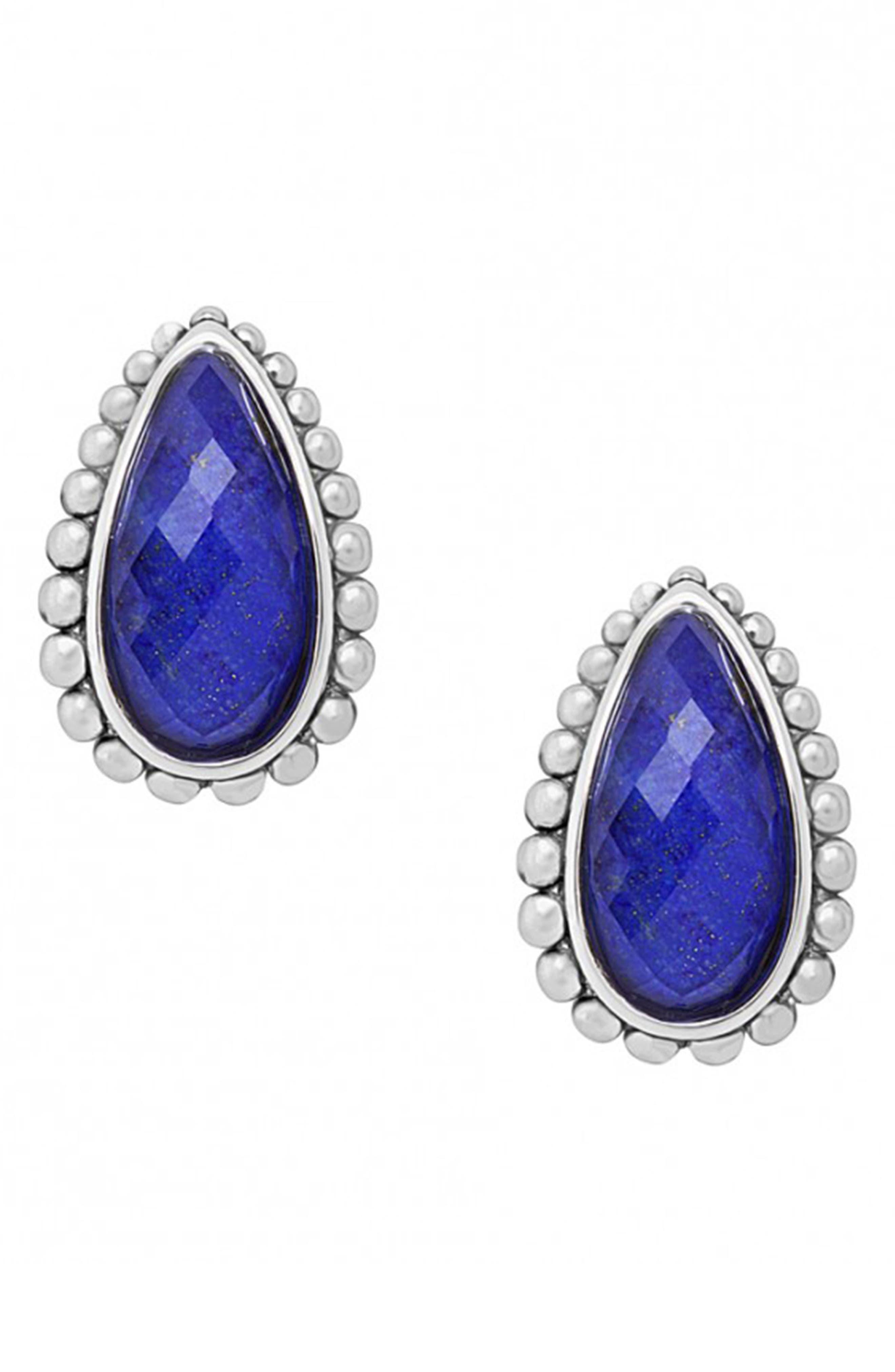 'Maya' Stud Earrings,                             Alternate thumbnail 2, color,                             Blue