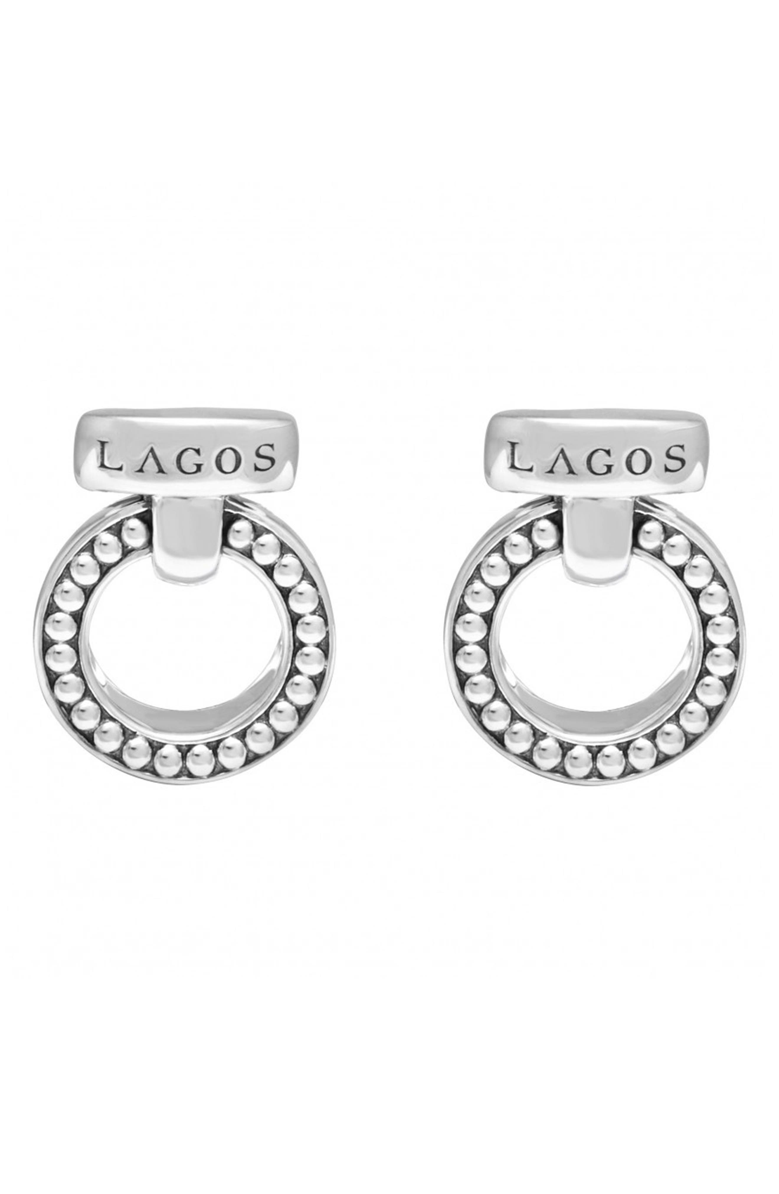'Enso' Caviar<sup>™</sup> Clip Earrings,                         Main,                         color, Silver