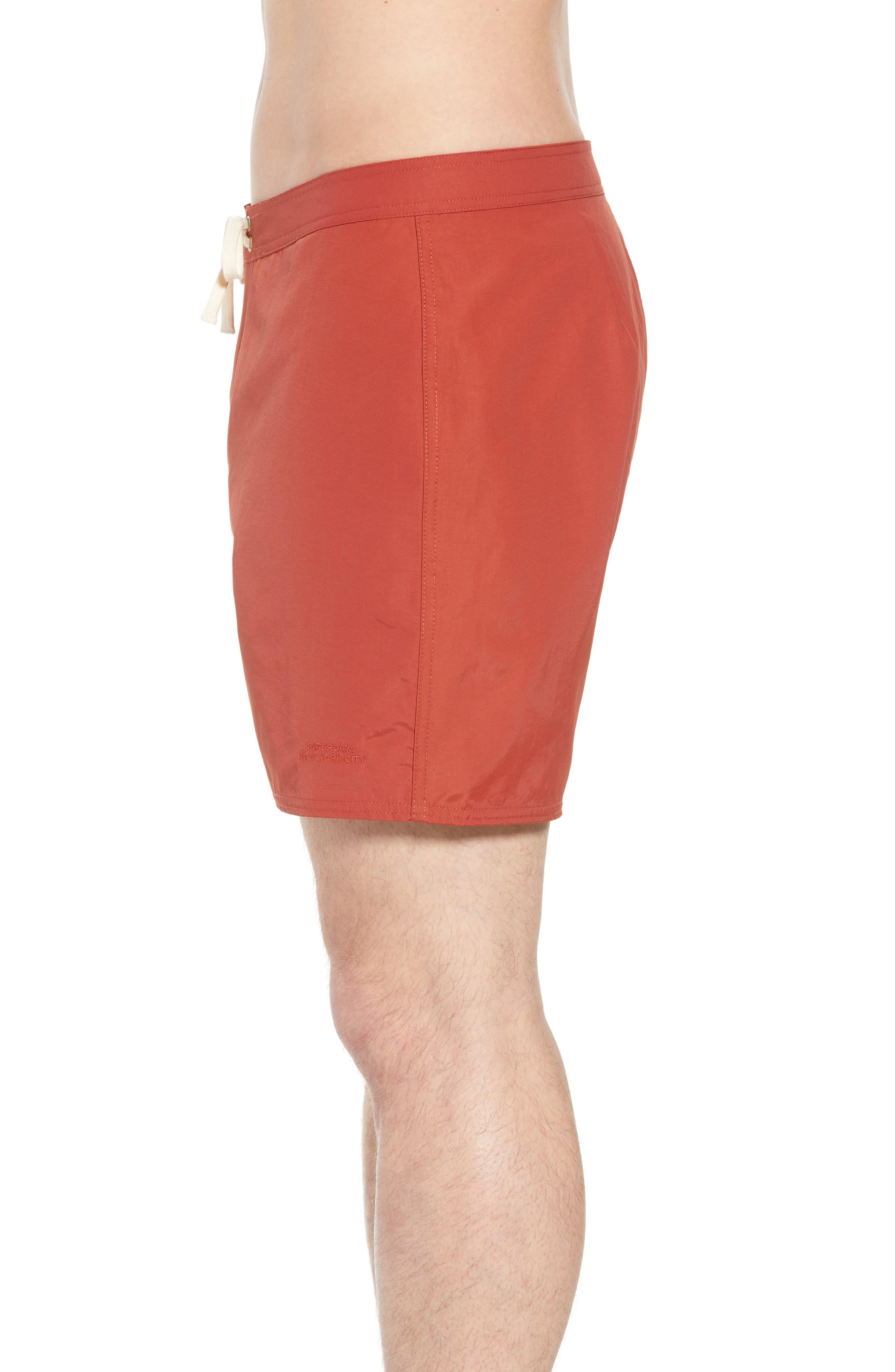 Colin Board Shorts,                             Alternate thumbnail 3, color,                             Brick