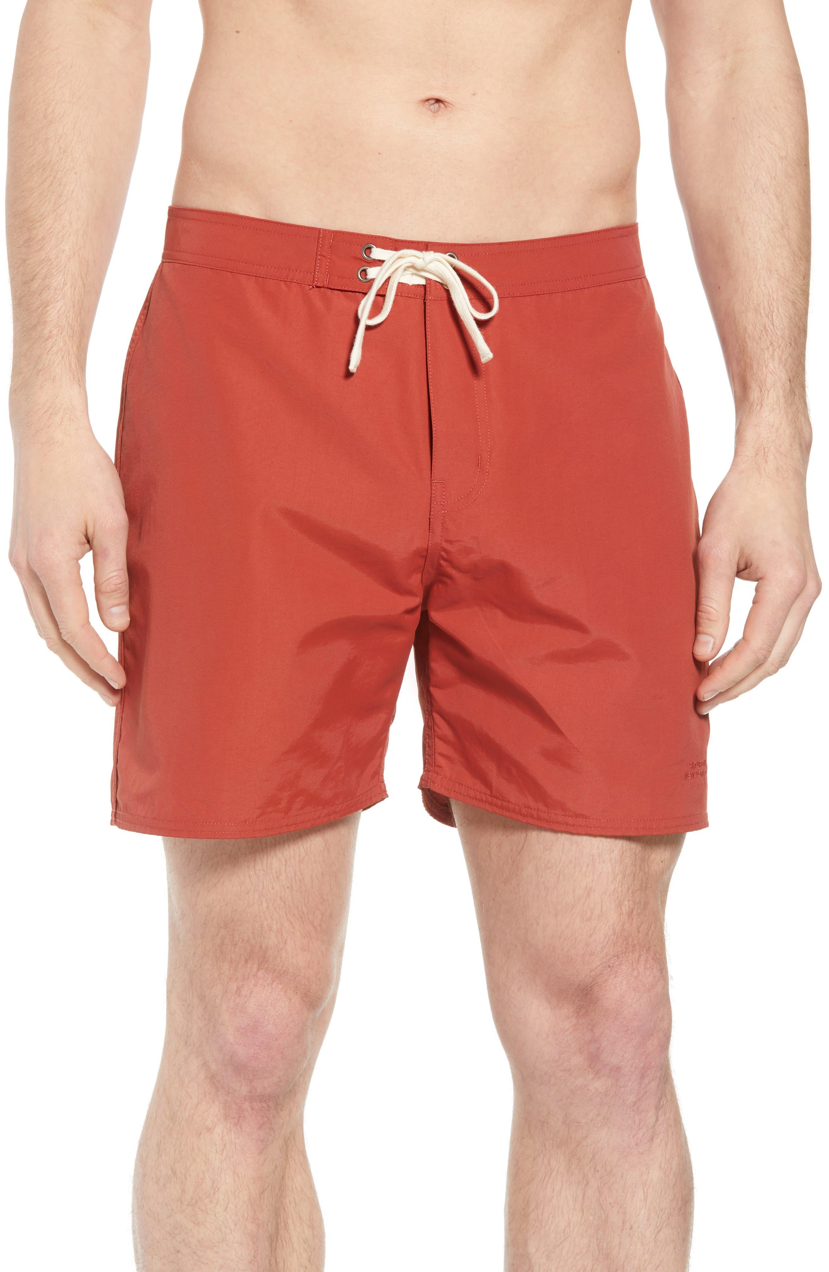 Colin Board Shorts,                             Main thumbnail 1, color,                             Brick