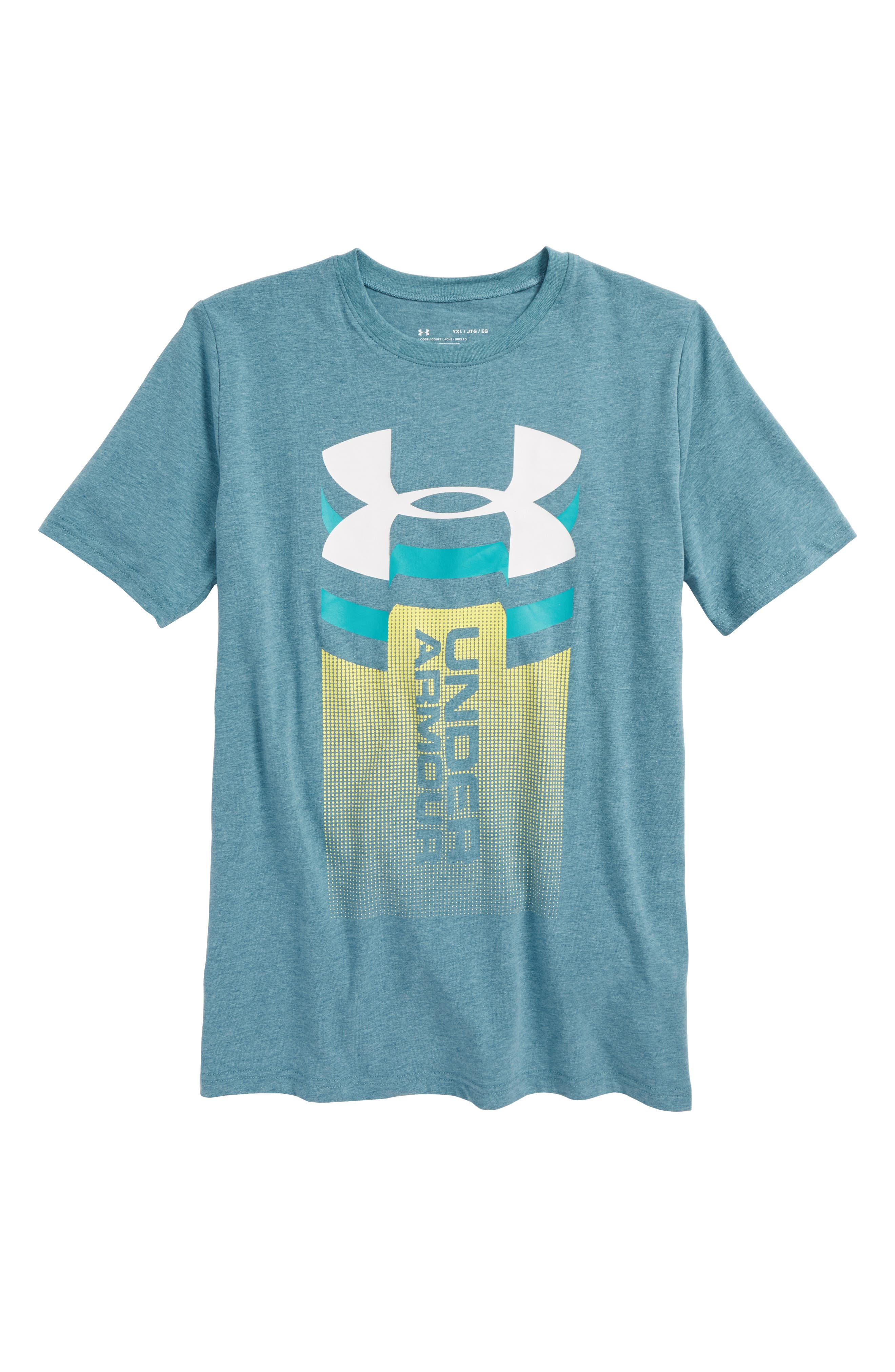Alternate Image 1 Selected - Under Armour Vertical Graphic T-Shirt (Big Boys)