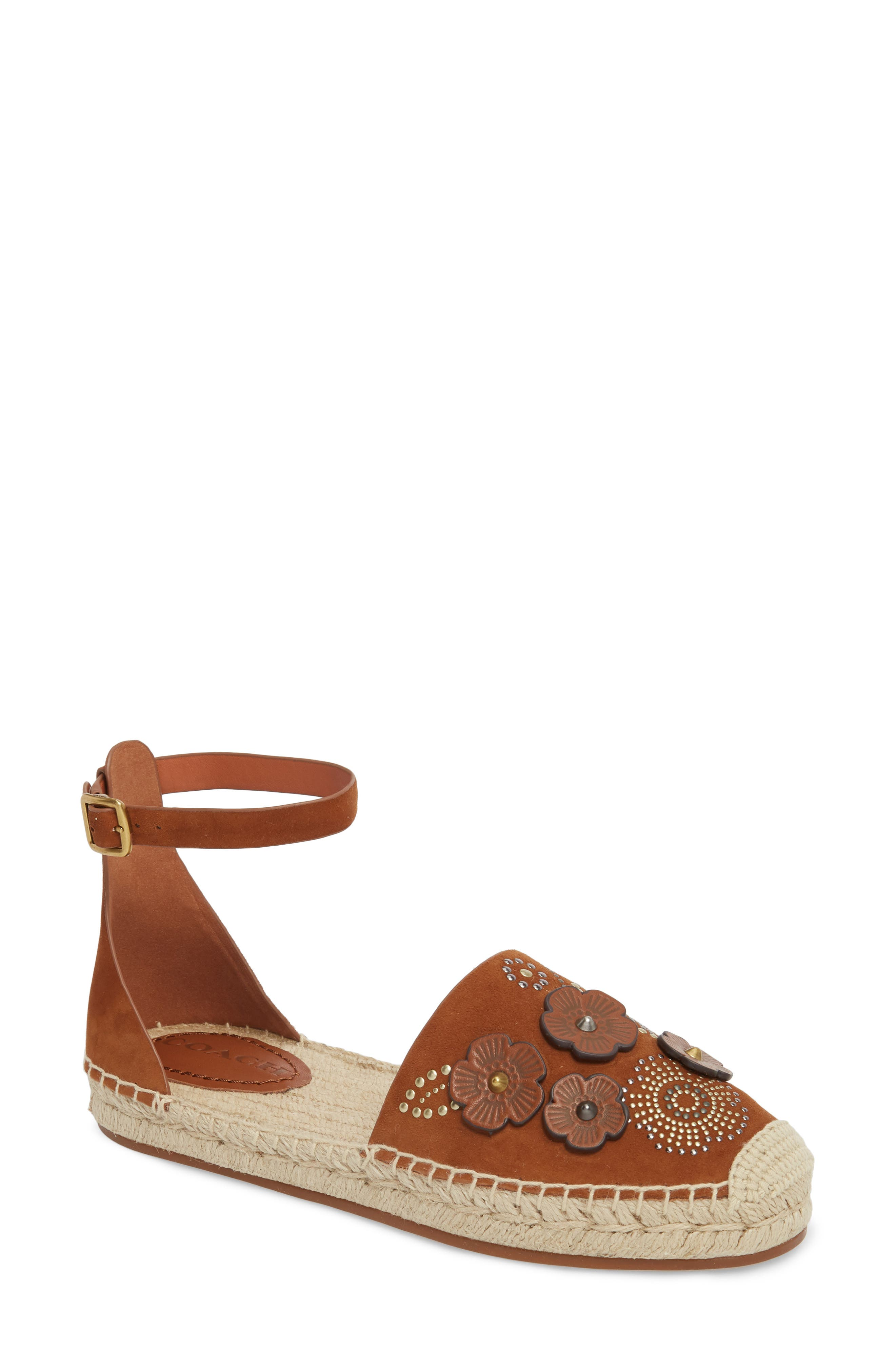 COACH Astor Ankle Strap Flat (Women)