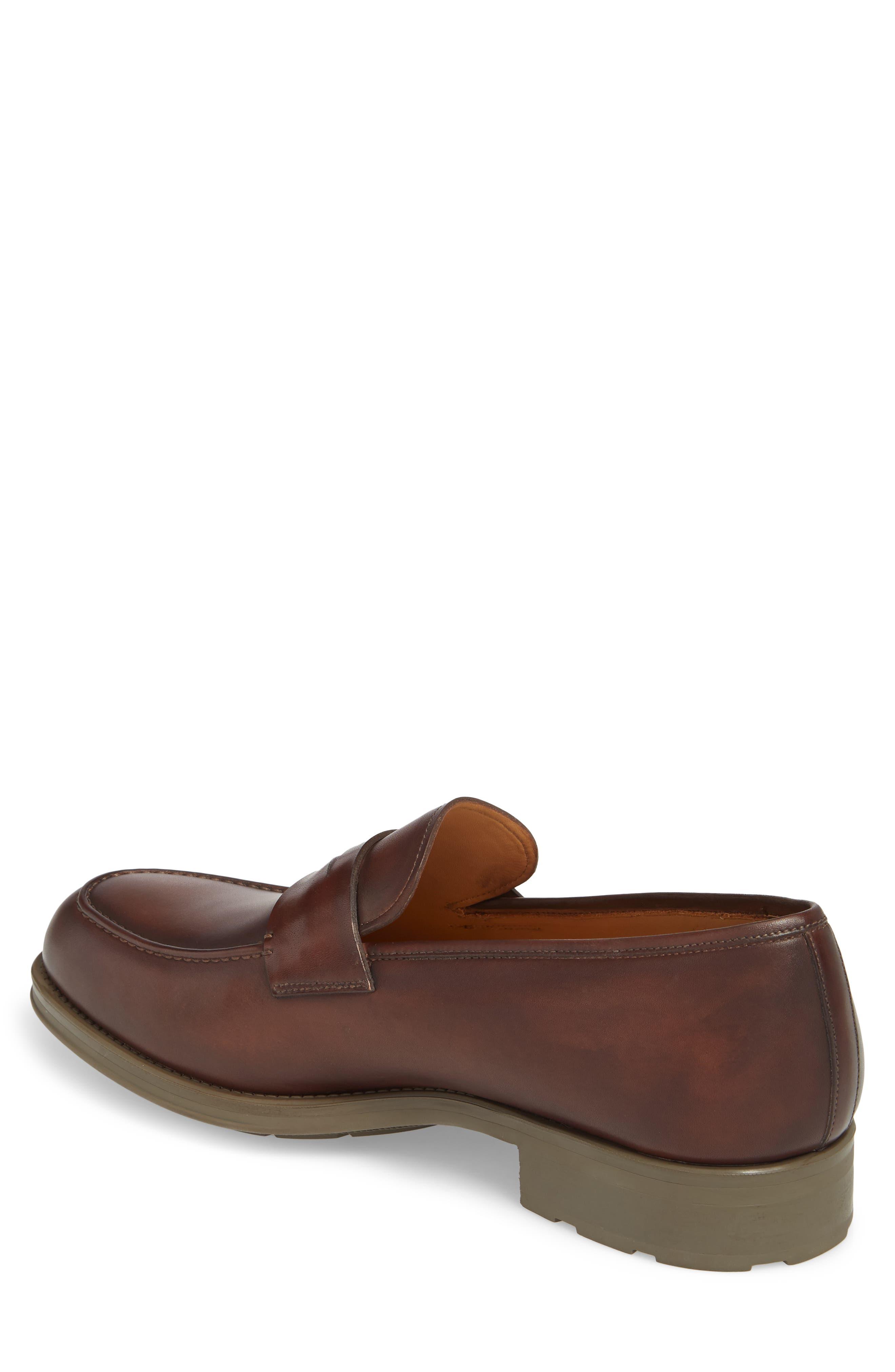 Bernardo Penny Loafer,                             Alternate thumbnail 2, color,                             Brown Leather