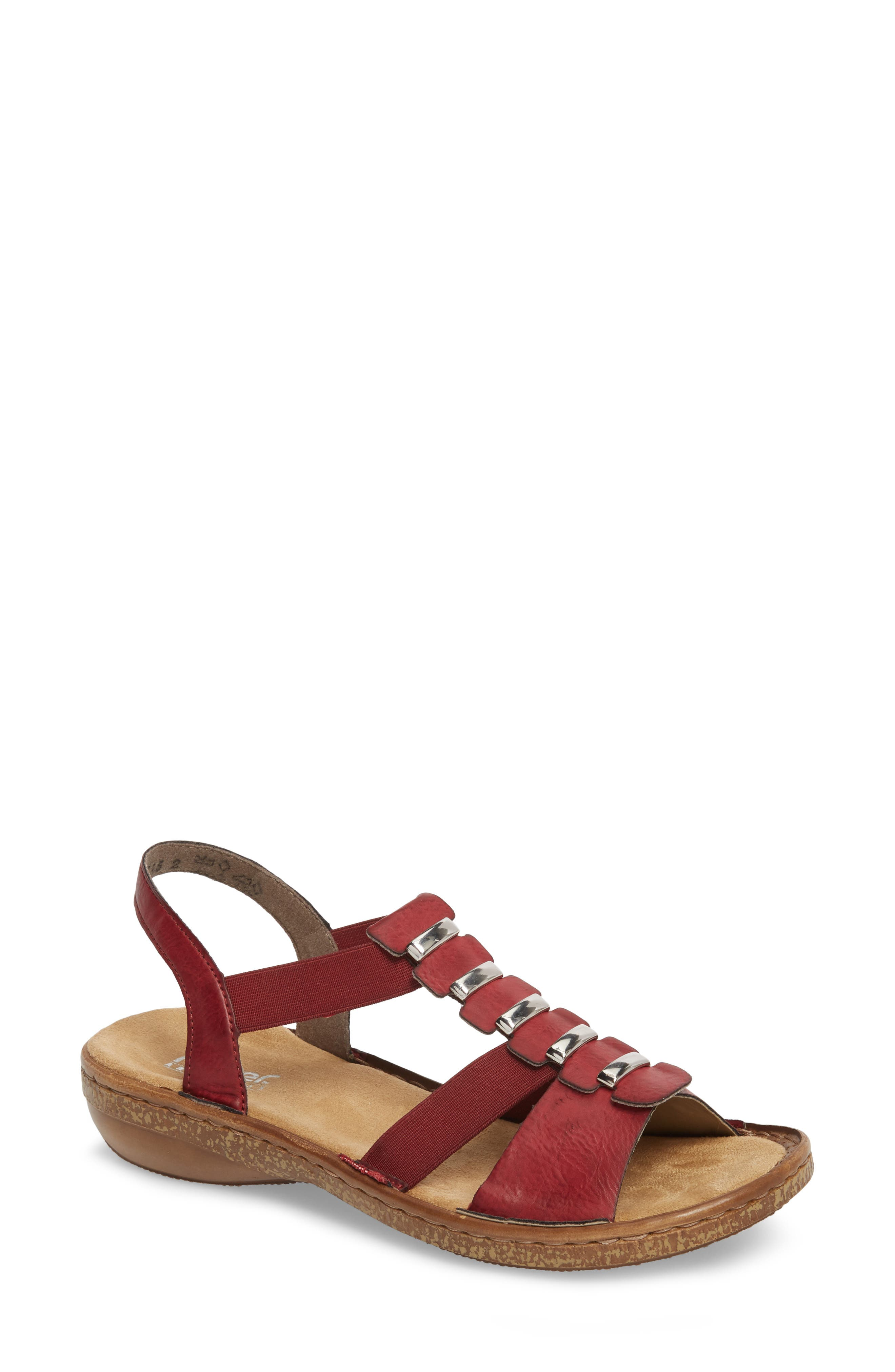 Regina 50 Sandal,                         Main,                         color, Wine
