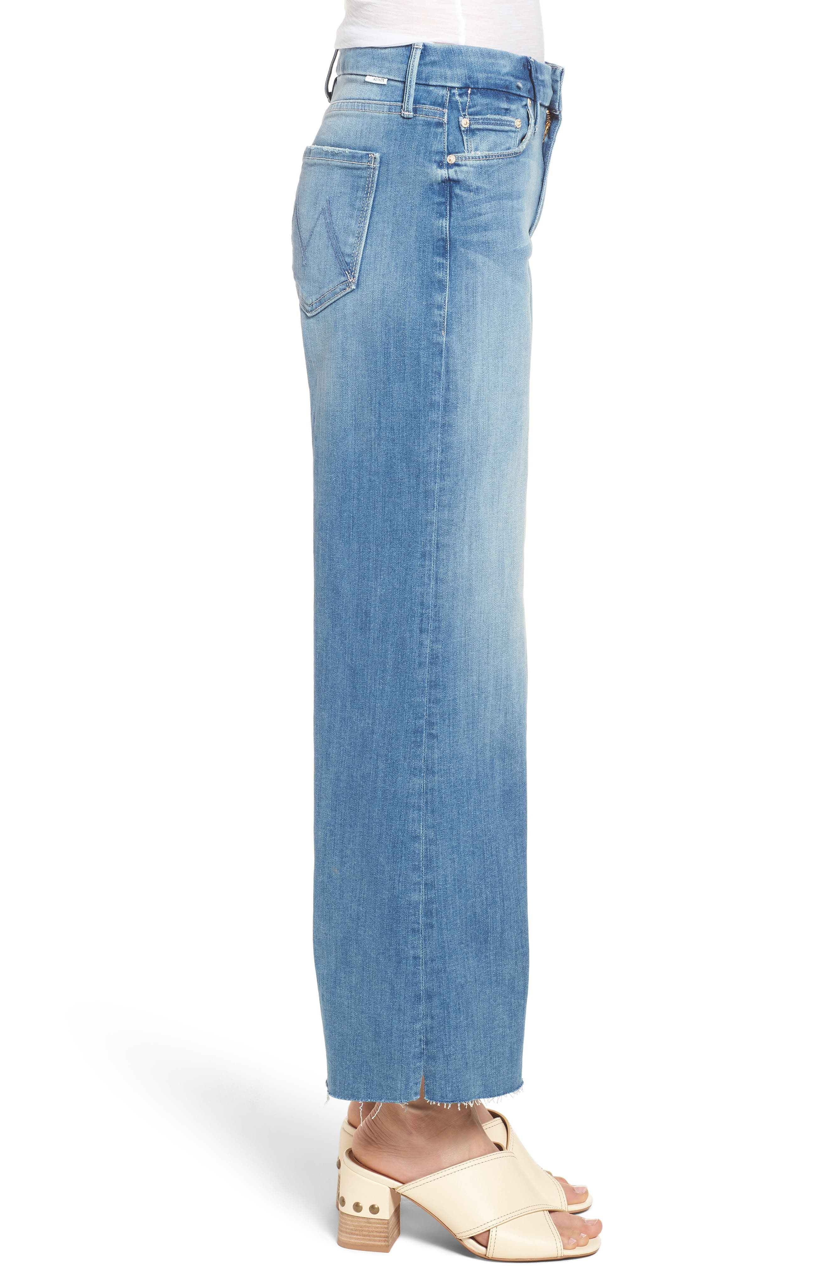 The Roller Crop Snippet Wide Leg Jeans,                             Alternate thumbnail 3, color,                             Well Played