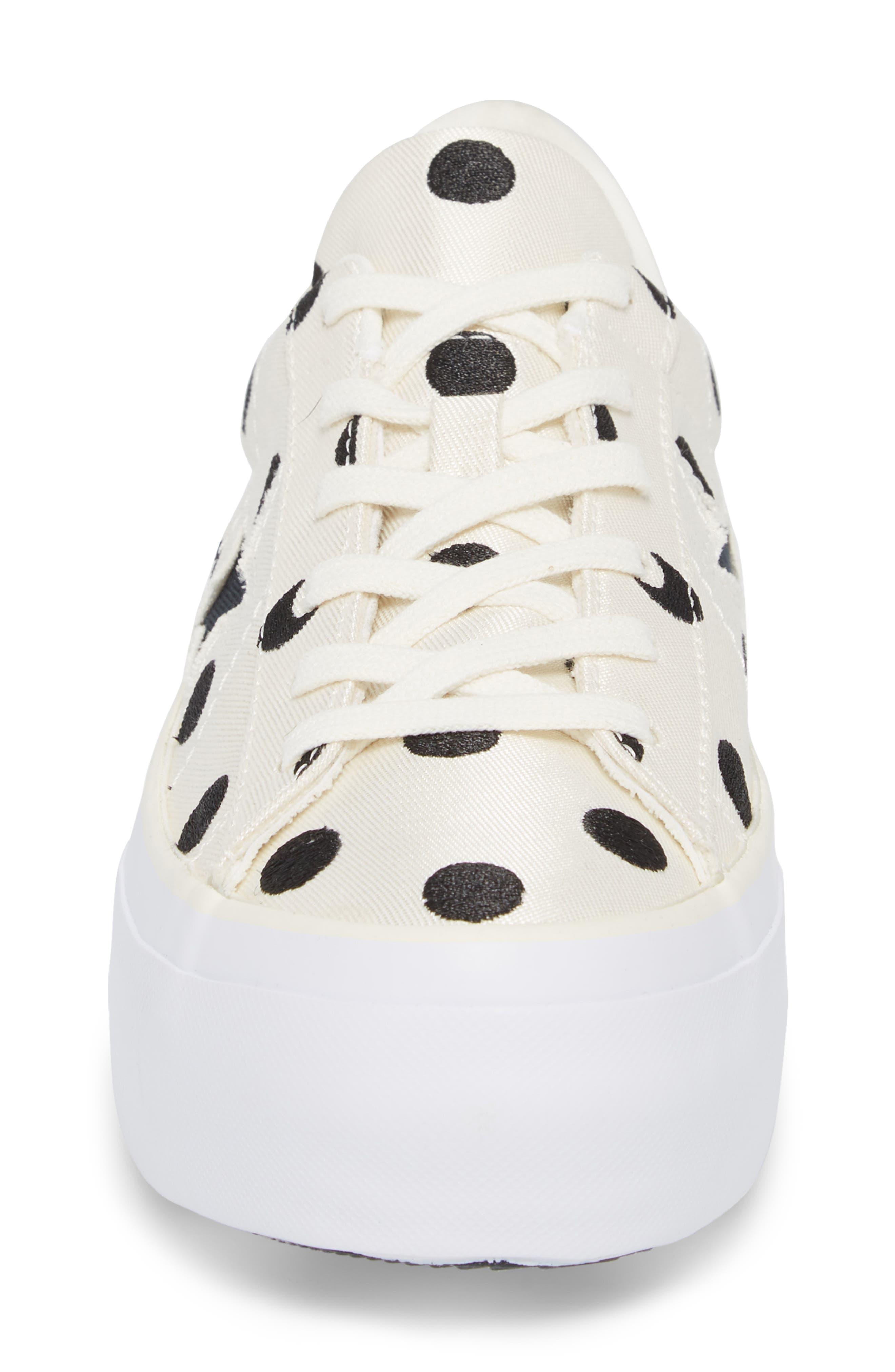 Chuck Taylor<sup>®</sup> One Star Platform Sneaker,                             Alternate thumbnail 4, color,                             Egret/ Black