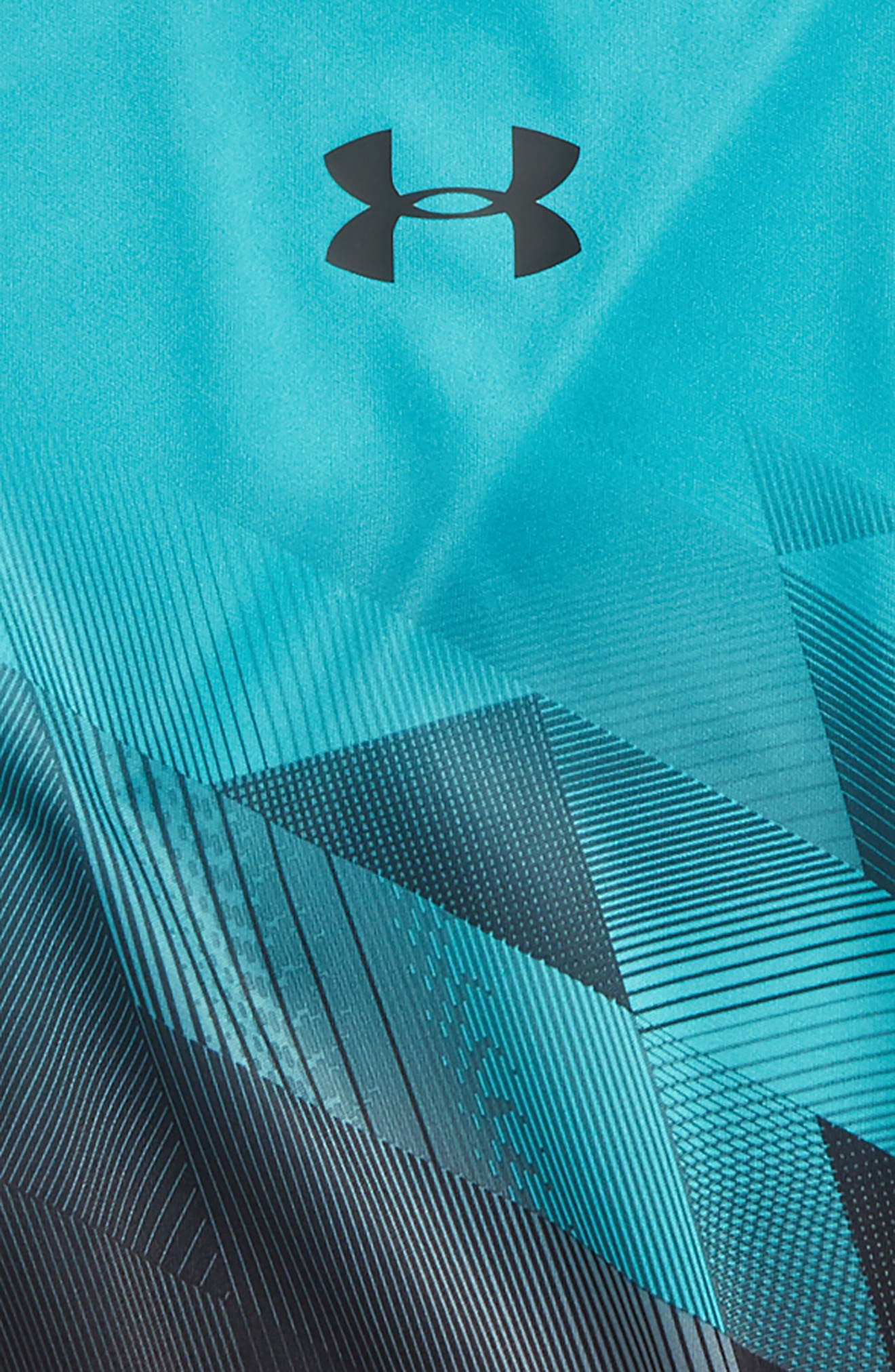 Electric Field HeatGear<sup>®</sup> Shirt,                             Alternate thumbnail 2, color,                             Teal Punch