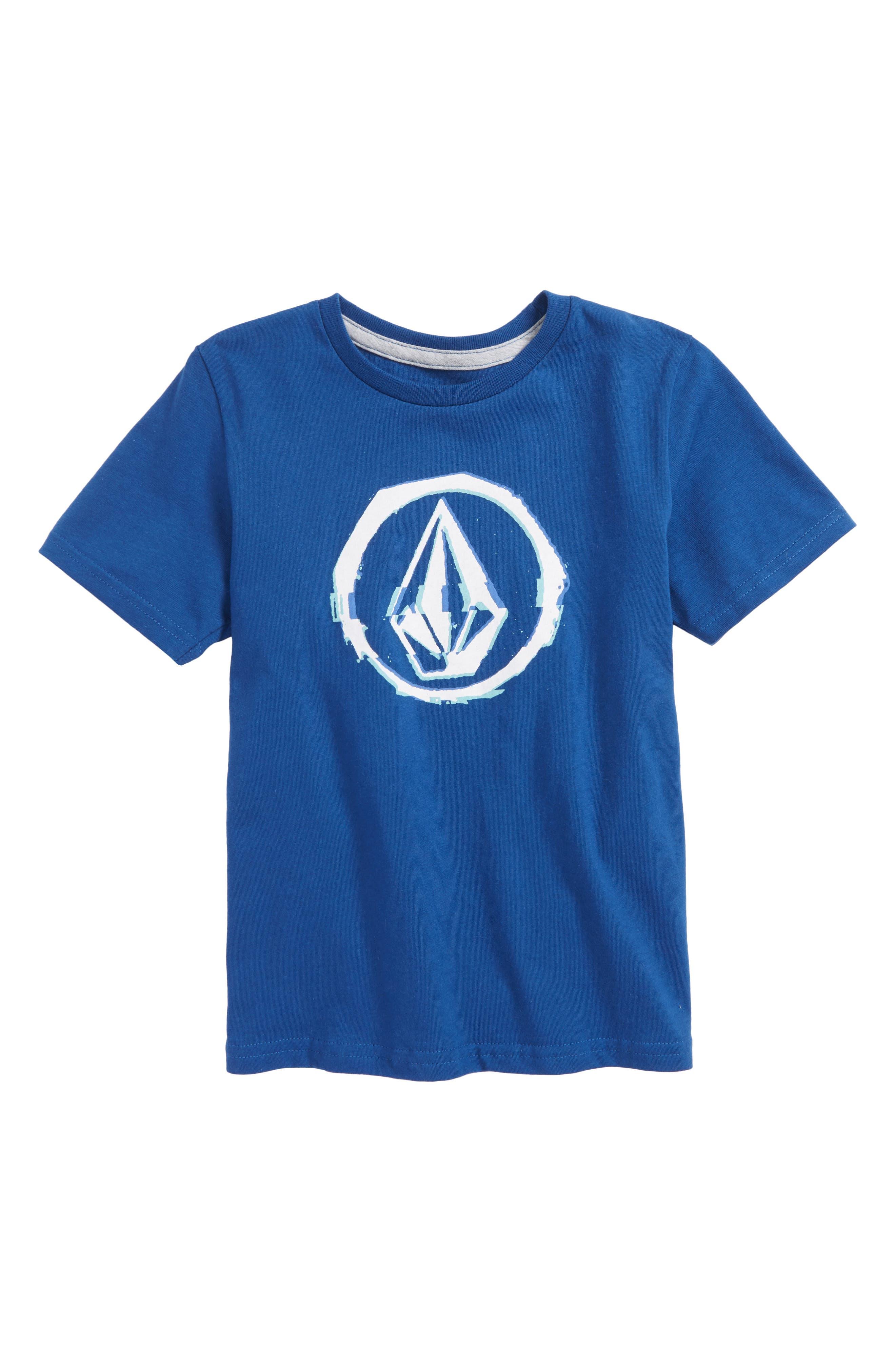 Glitchy Graphic T-Shirt,                             Main thumbnail 1, color,                             Camper Blue