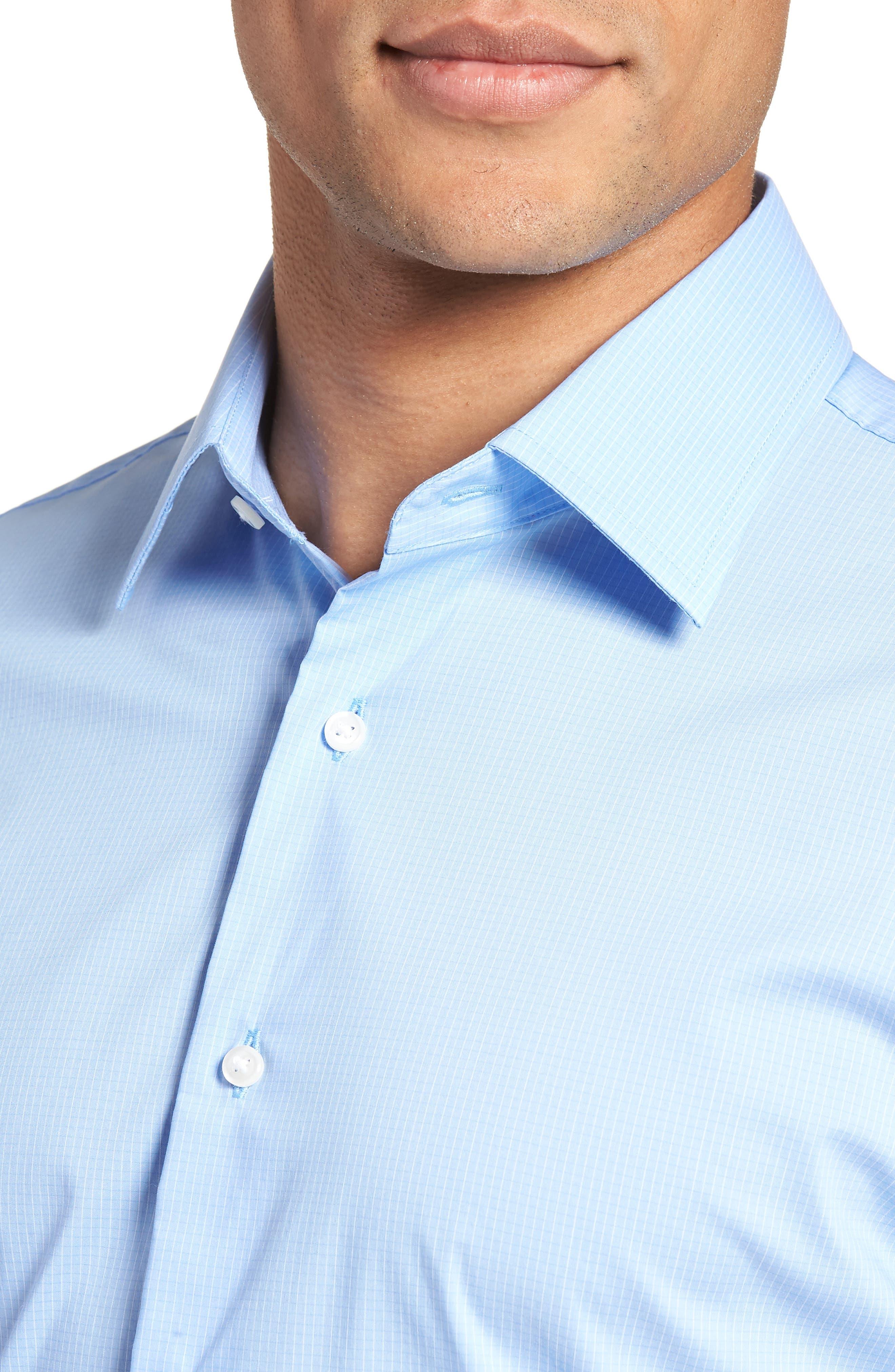 Traditional Fit Stretch Check Dress Shirt,                             Alternate thumbnail 2, color,                             Blue Vista