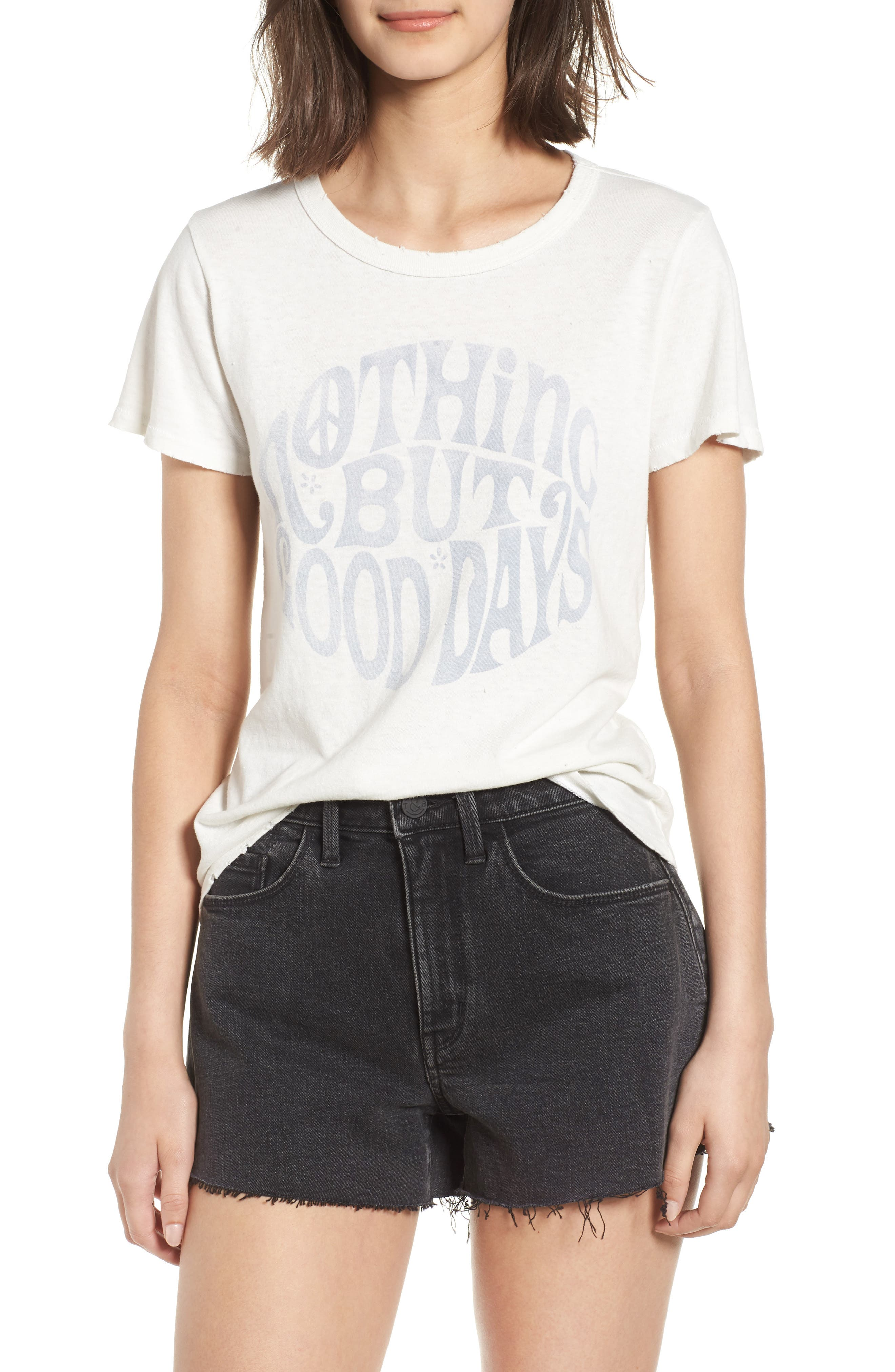 Nothing but Good Days Tee,                         Main,                         color, Vintage White