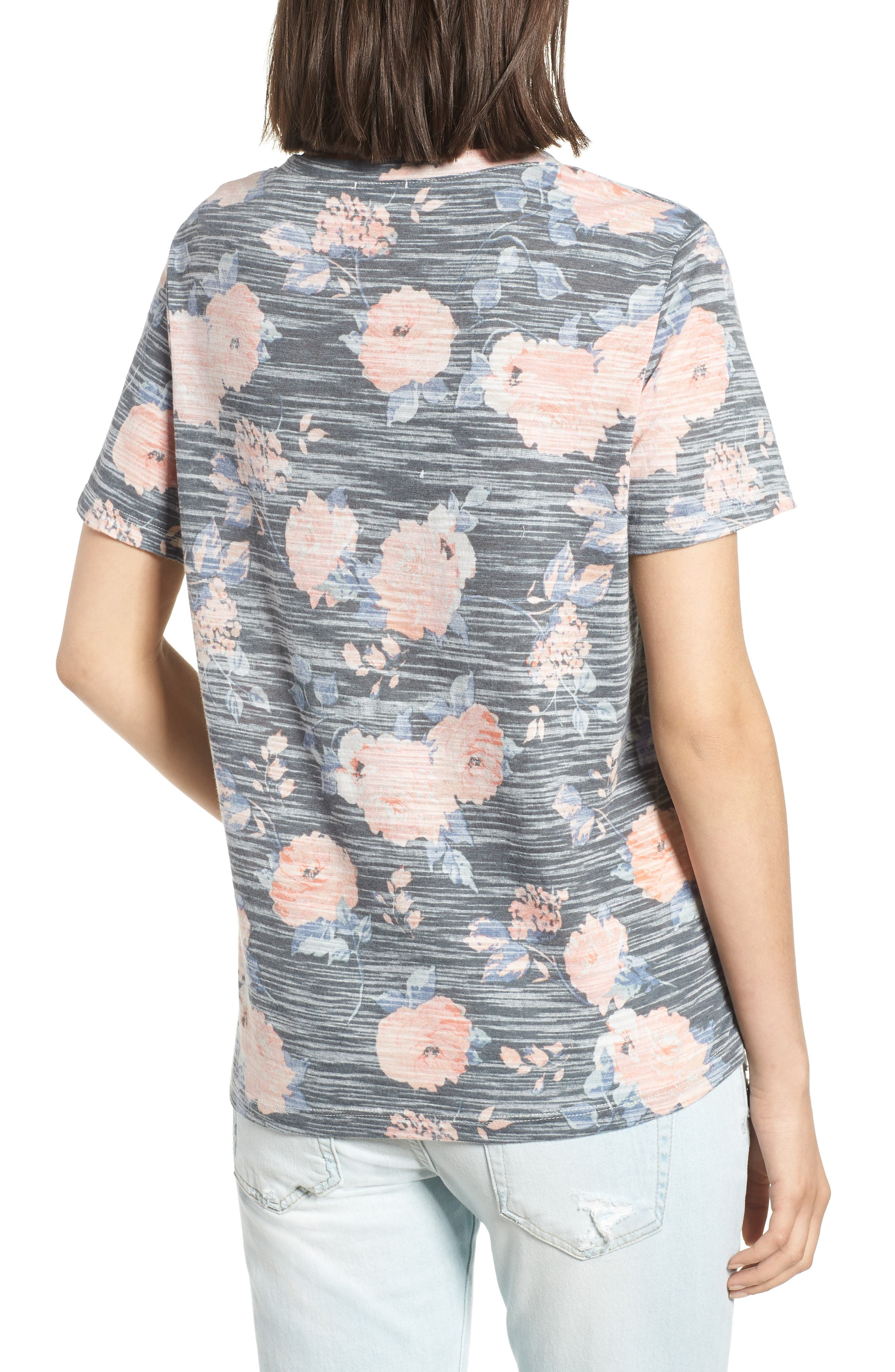 Floral Tee,                             Alternate thumbnail 2, color,                             Rose Floral