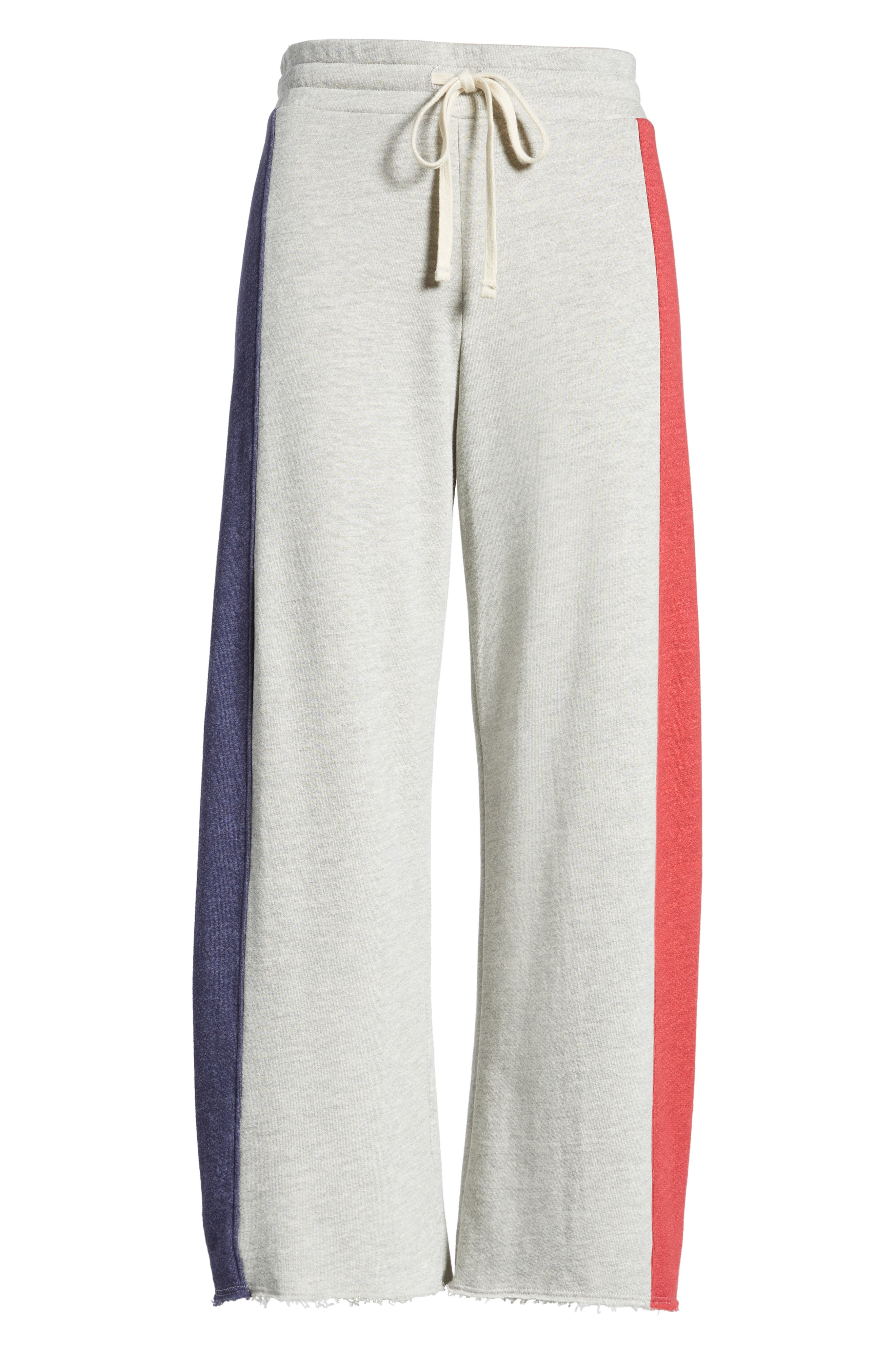Terry Colorblock Sweatpants,                             Alternate thumbnail 7, color,                             Heather Grey