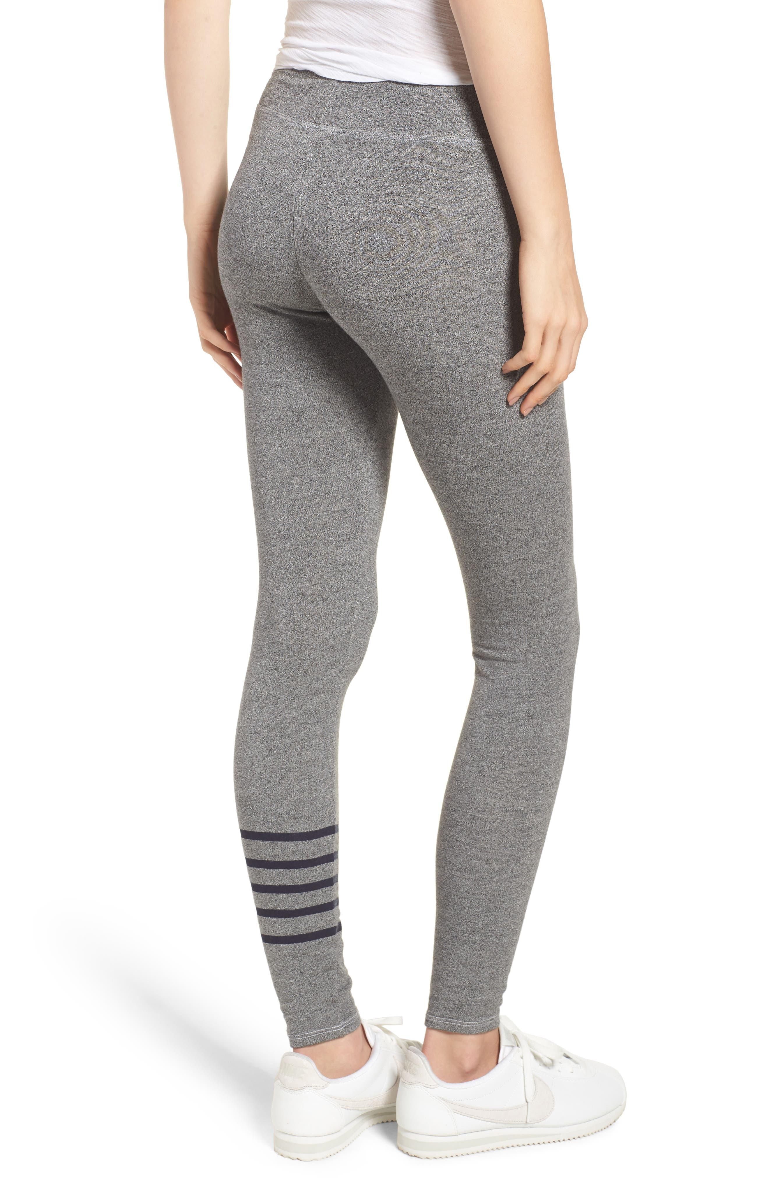 Stripe Yoga Pants,                             Alternate thumbnail 2, color,                             Heather Grey