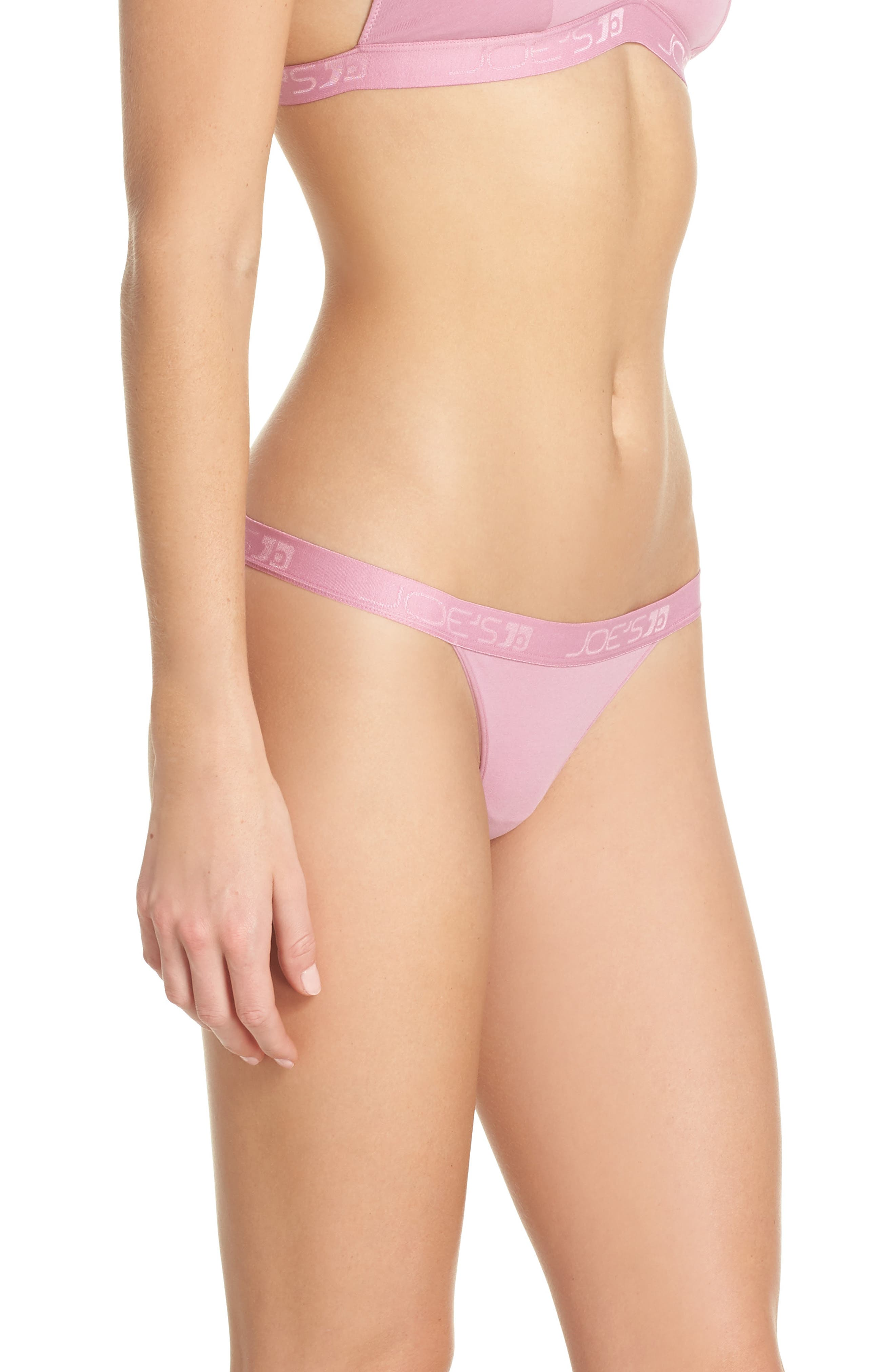 Logo Bikini,                             Alternate thumbnail 3, color,                             Rose Violet