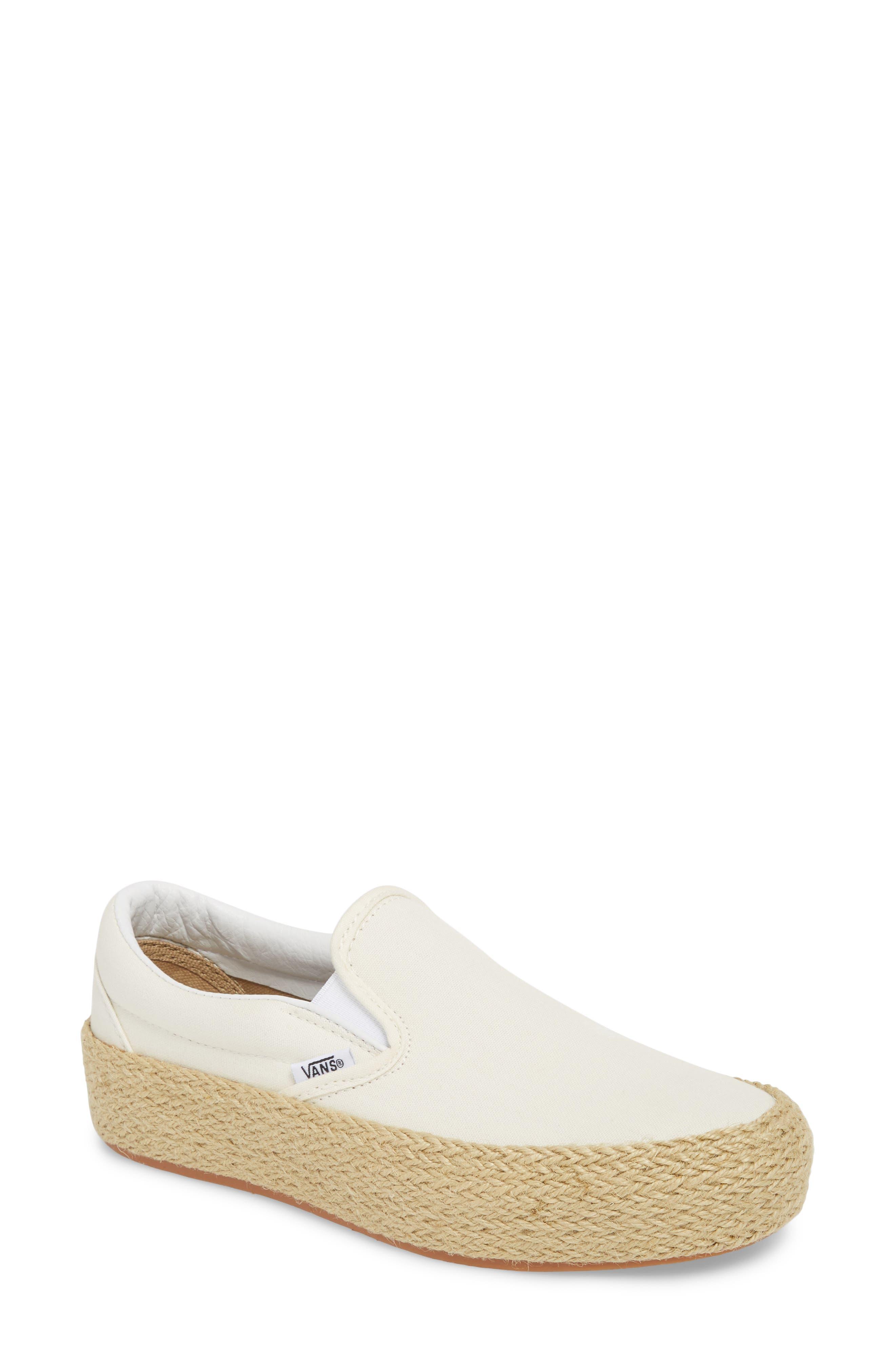 Platform Slip-On Sneaker,                         Main,                         color, Marshmallow