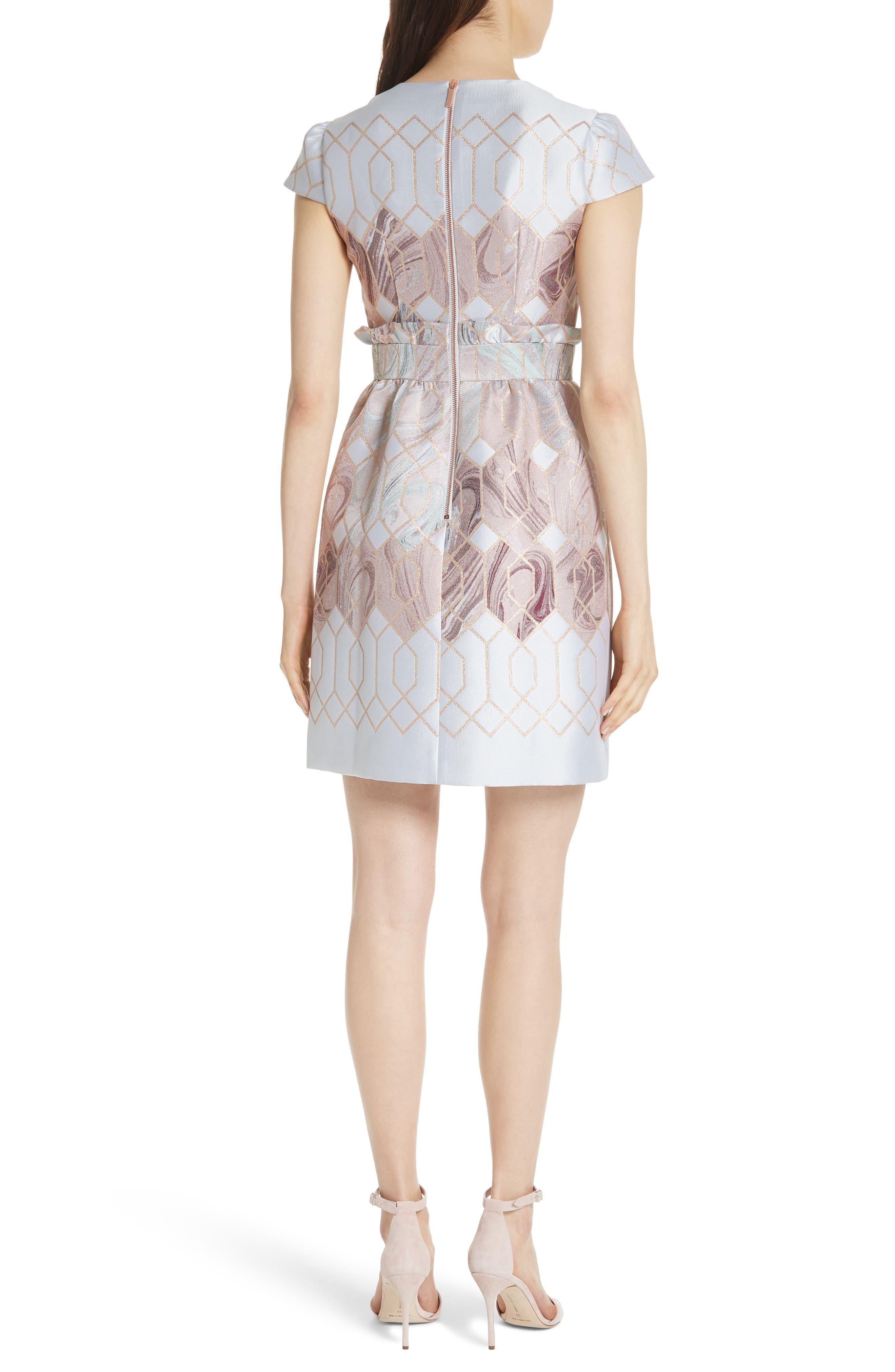 Ingrida Sea of Clouds Tulip Dress,                             Alternate thumbnail 2, color,                             White