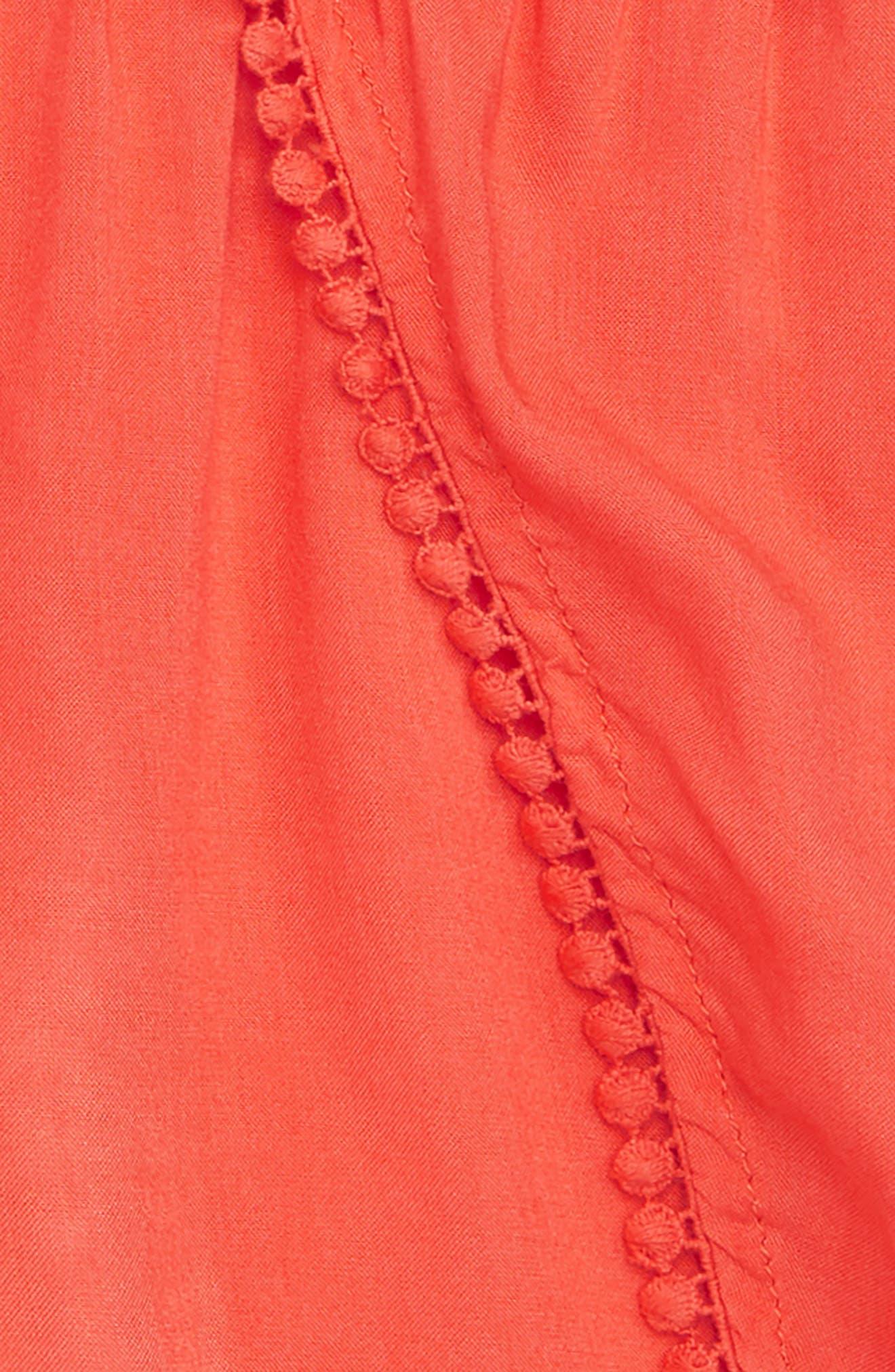 Petal Shorts,                             Alternate thumbnail 2, color,                             Coral Hot