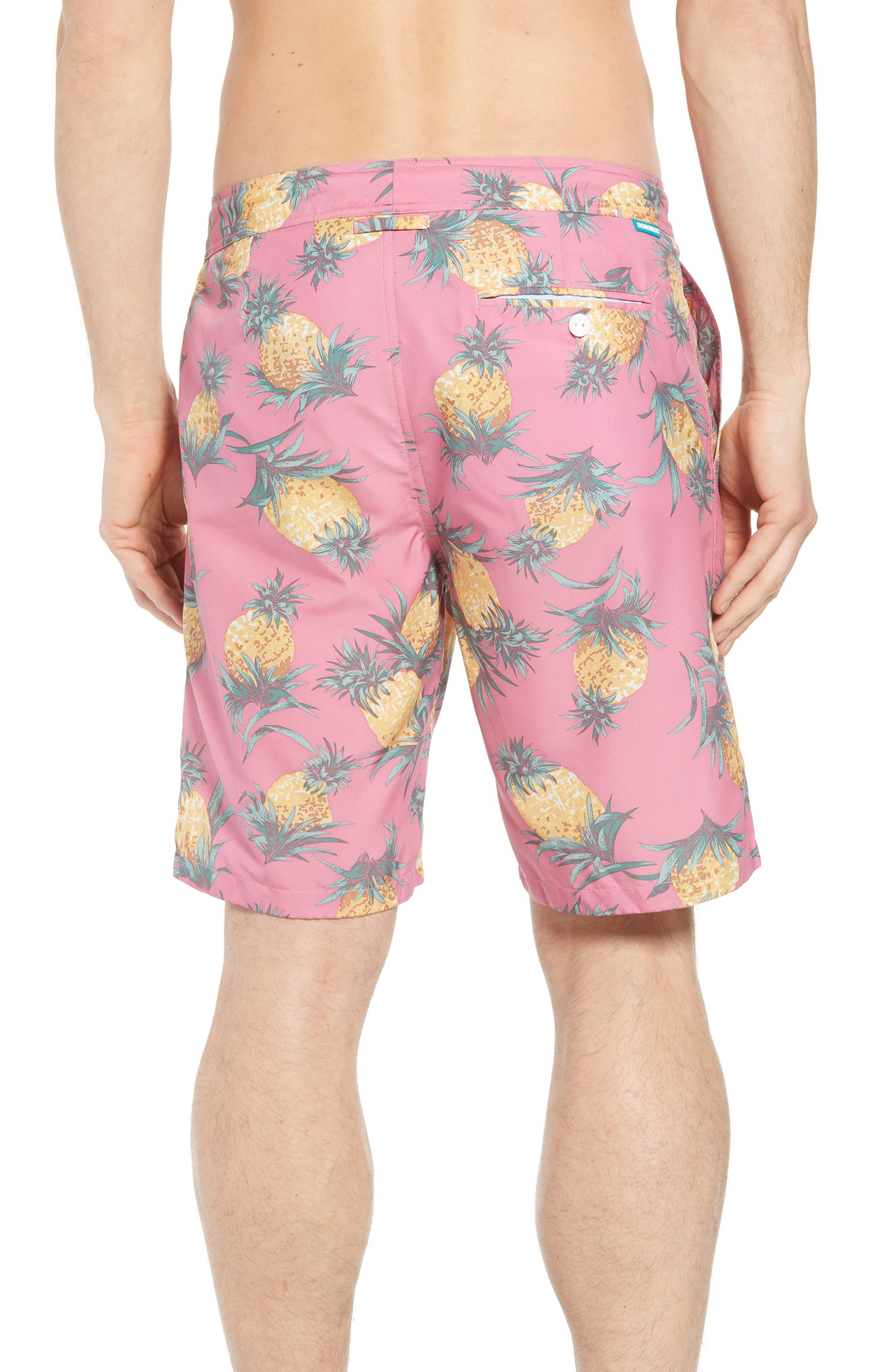 Banzai 9-Inch Swim Trunks,                             Alternate thumbnail 2, color,                             Pineapples Print