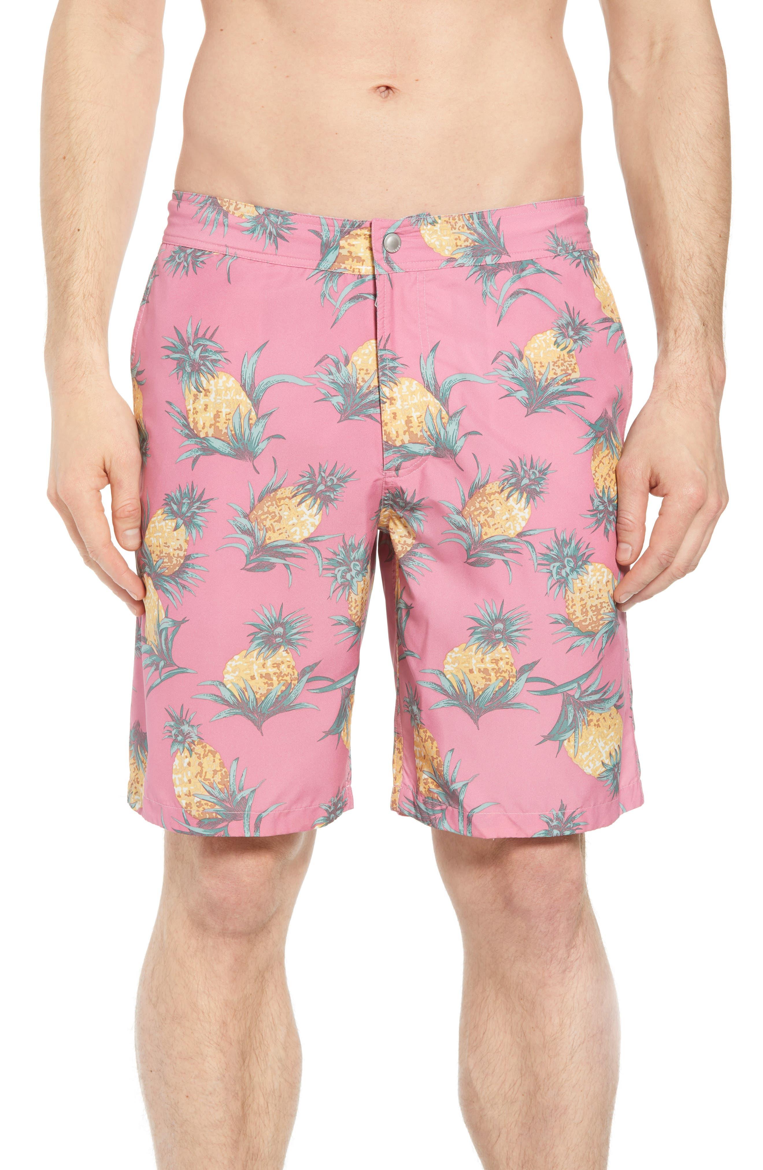 Banzai 9-Inch Swim Trunks,                         Main,                         color, Pineapples Print