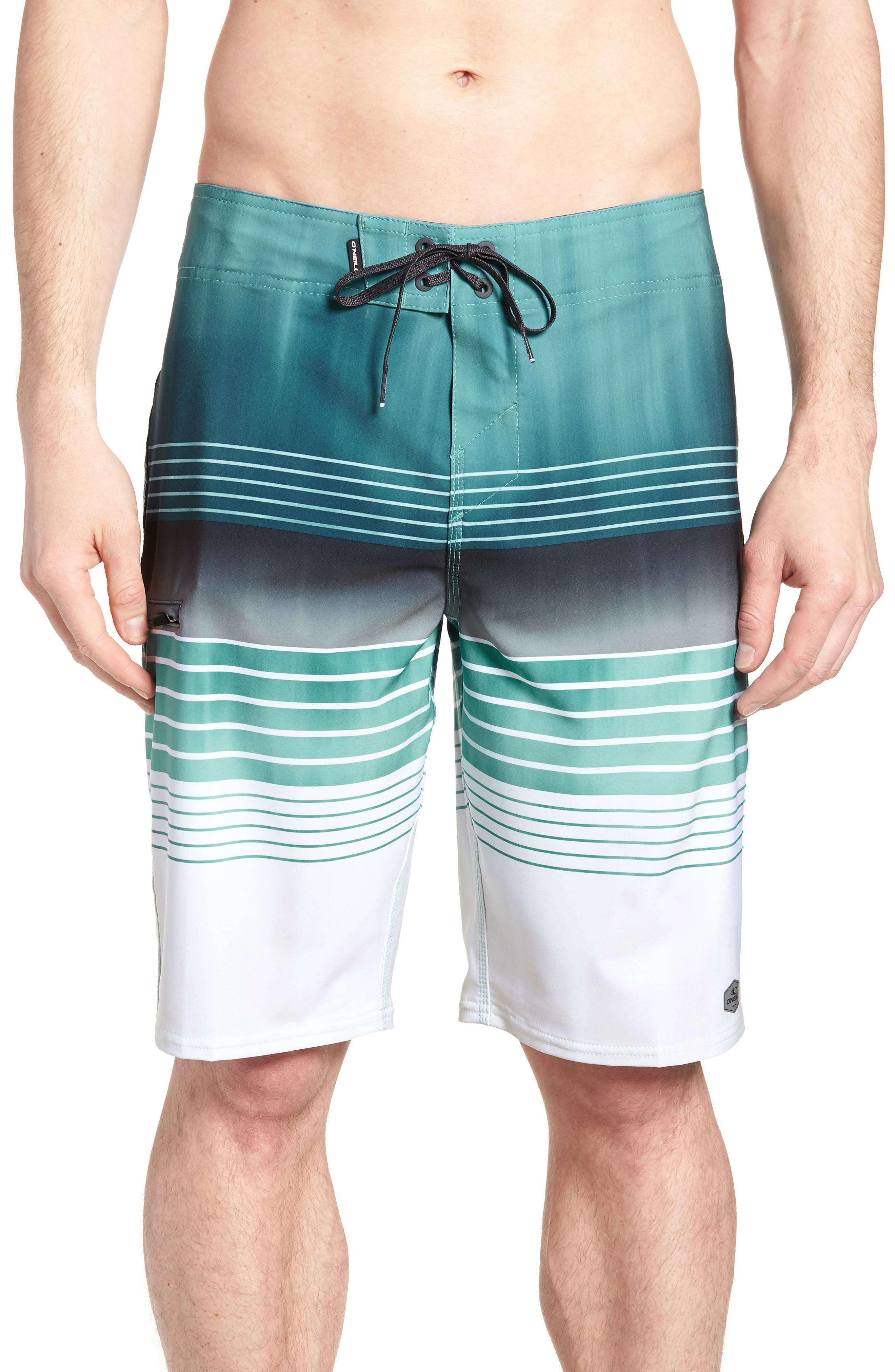 Hyperfreak Heist Board Shorts,                             Main thumbnail 1, color,                             Turquoise