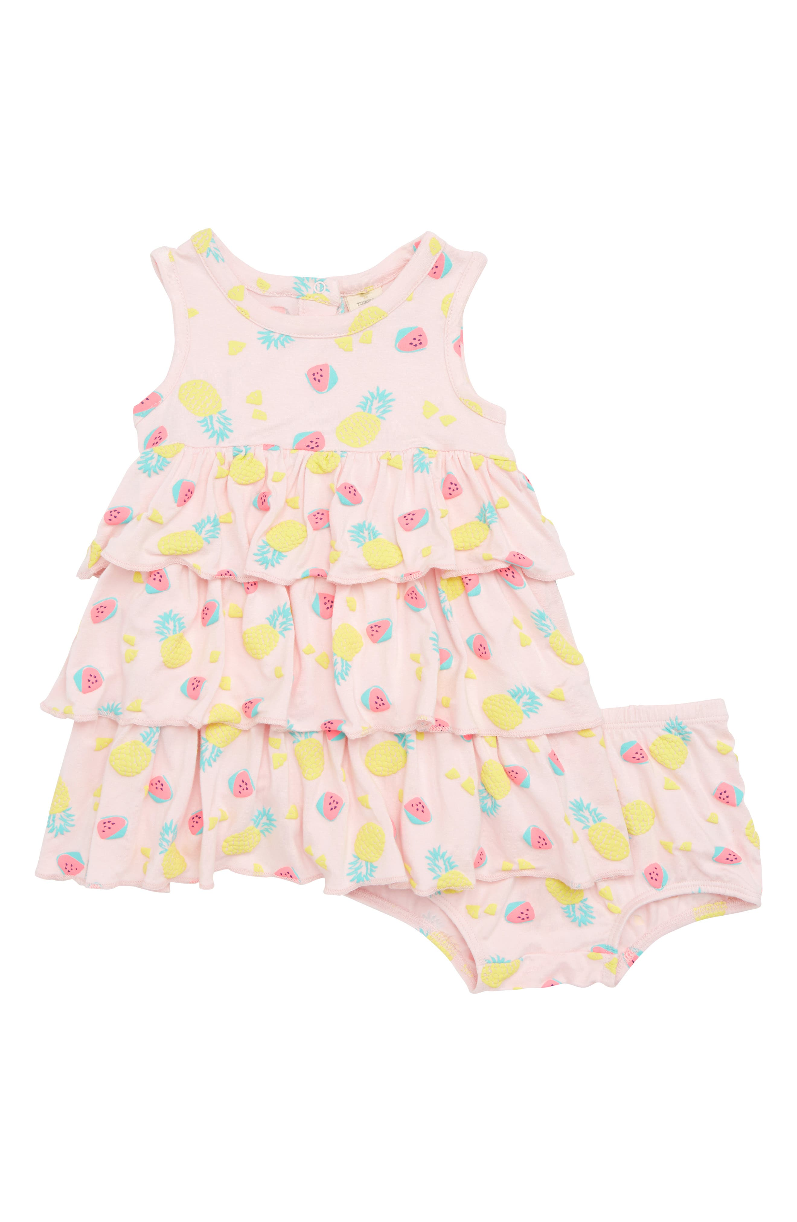 Tiered Sundress,                         Main,                         color, Pink Breath Fruits