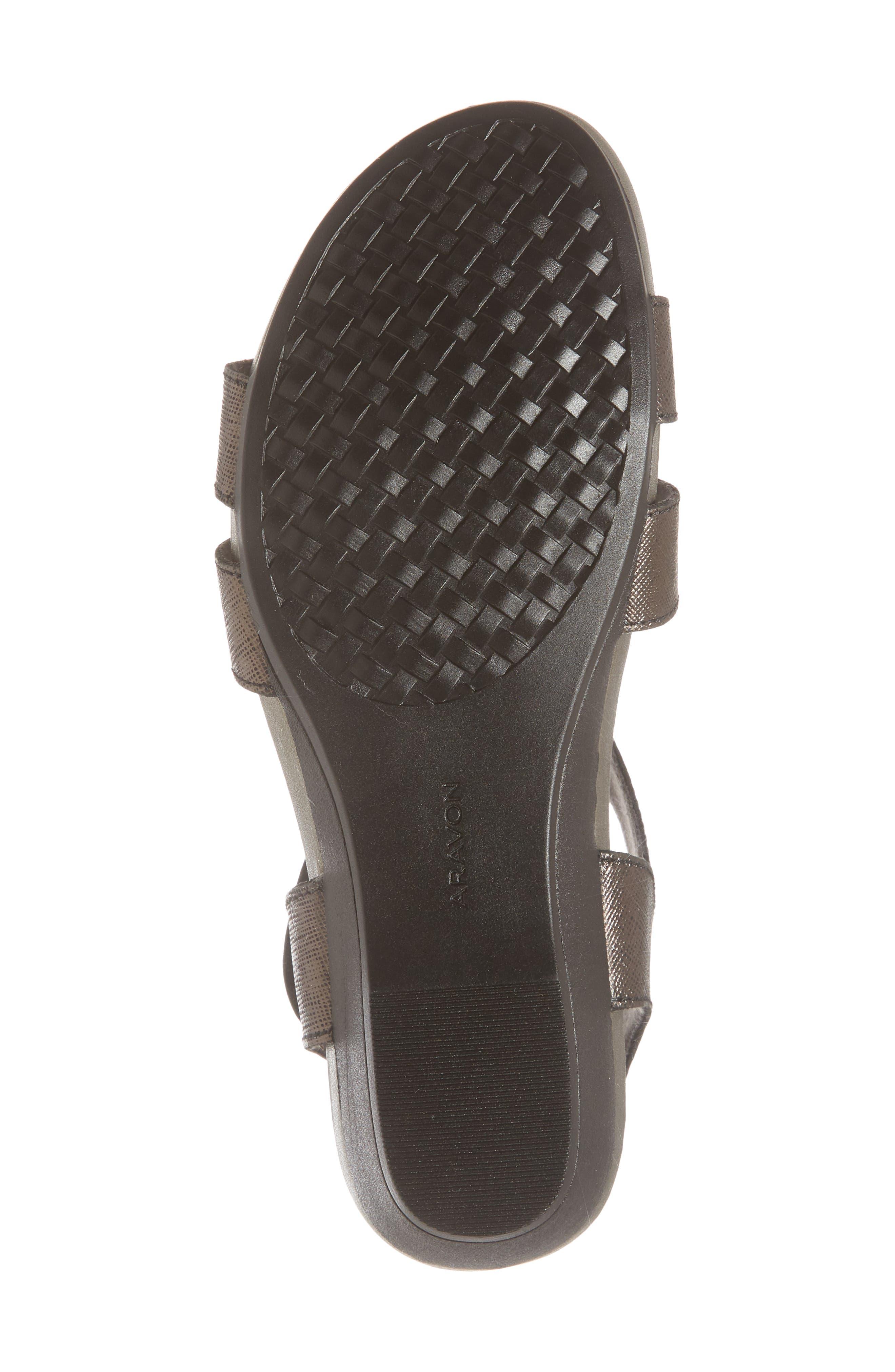Standon Sandal,                             Alternate thumbnail 6, color,                             Black Leather