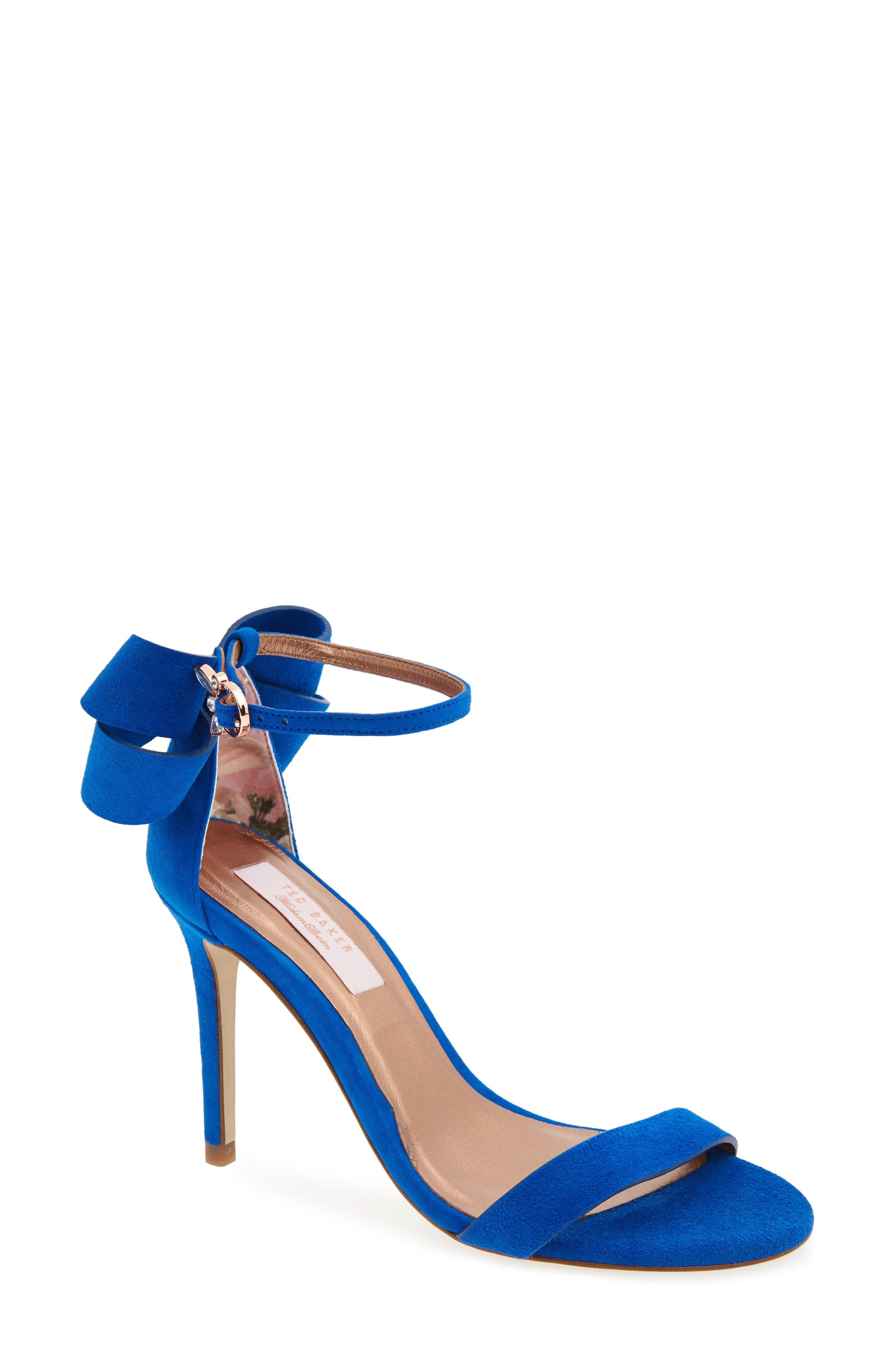Sandas Sandal,                         Main,                         color, Blue Suede