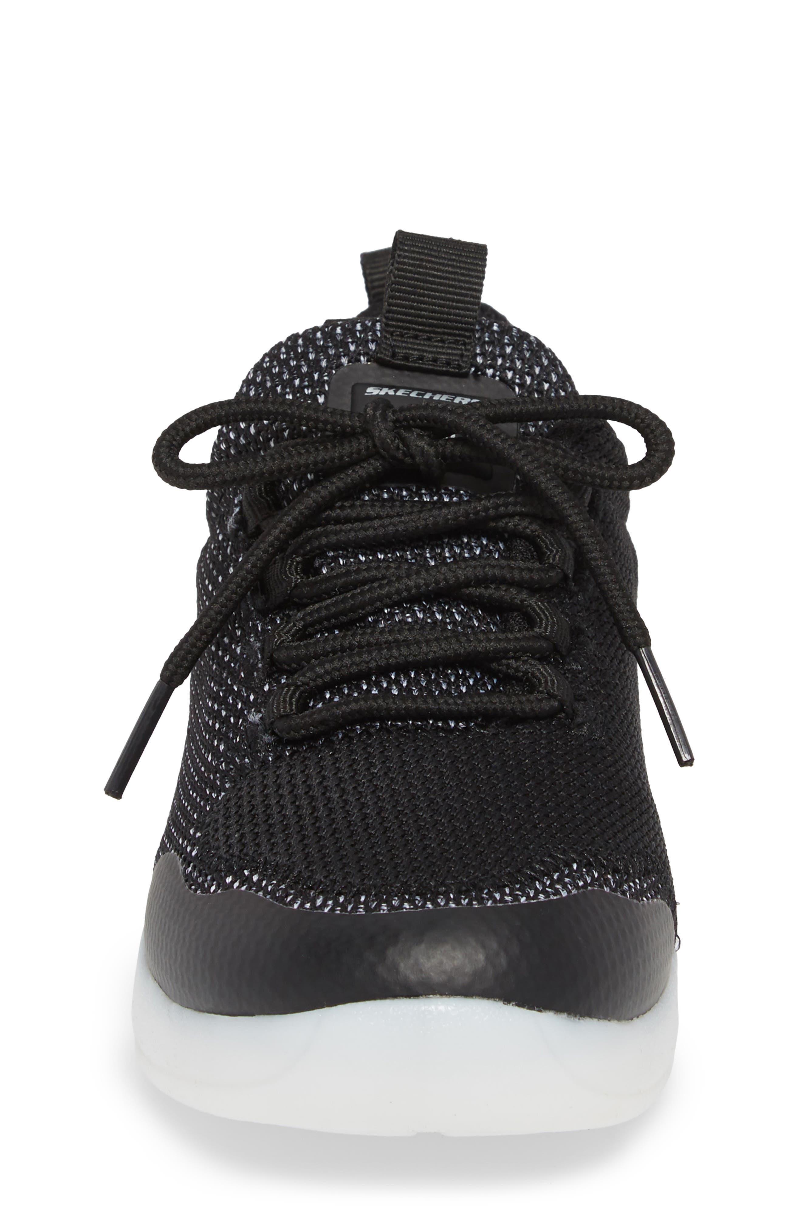 Energy Lights Street Sneaker,                             Alternate thumbnail 4, color,                             Black